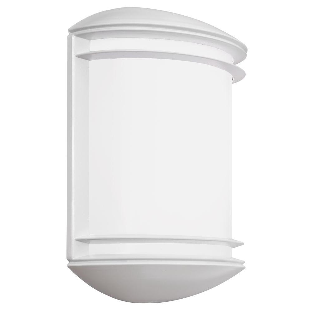 Newest White Outdoor Wall Mounted Lighting Pertaining To Lithonia Lighting Wall Mount Outdoor White Led Sconce Decorative (View 19 of 20)
