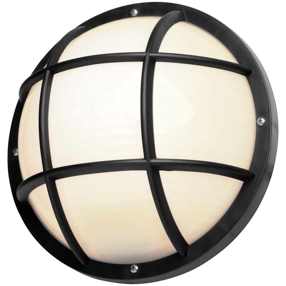 Newport Coastal 10.25 In. Black Outdoor Incandescent Nautical In Current Outdoor Ceiling Bulkhead Lights (Gallery 7 of 20)
