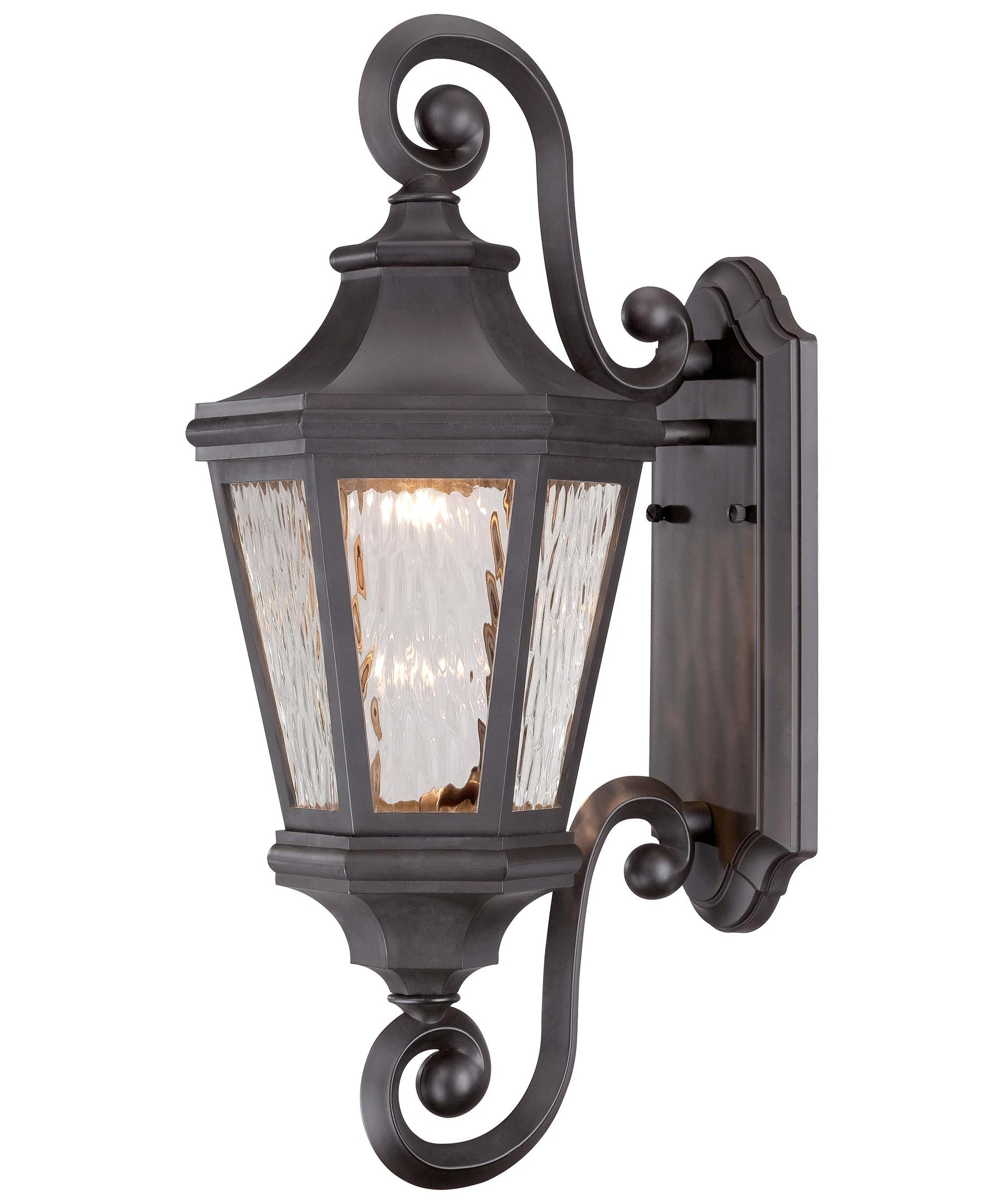 Oil Rubbed Bronze Outdoor Wall Lights With Regard To Most Current Minka Lavery 71822 Hanford Pointe 9 Inch Wide 1 Light Outdoor Wall (View 19 of 20)