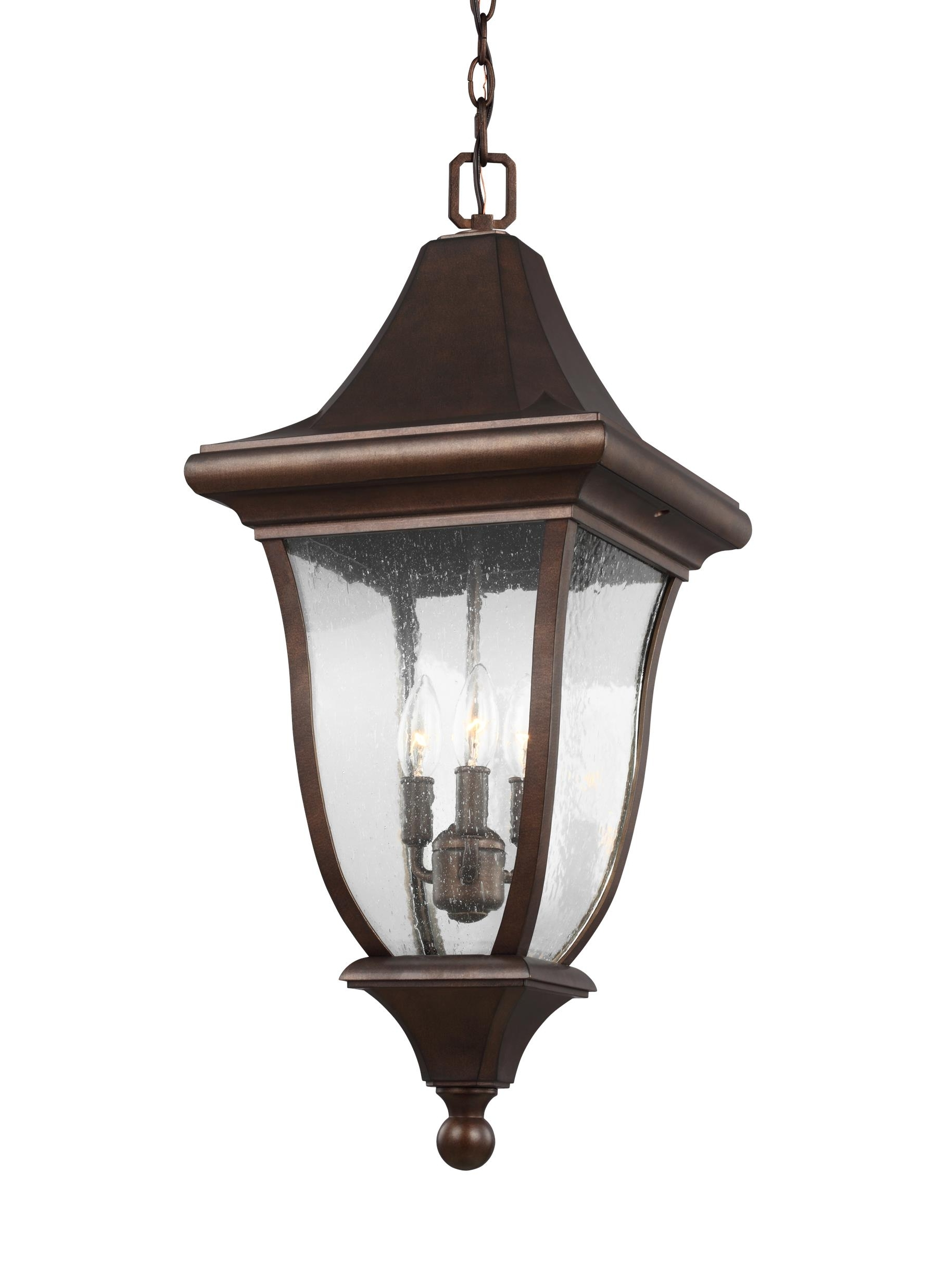 Ol13109ptbz,3 – Light Outdoor Pendant Lantern,patina Bronze Pertaining To Latest Lamps Plus Outdoor Hanging Lights (View 8 of 20)