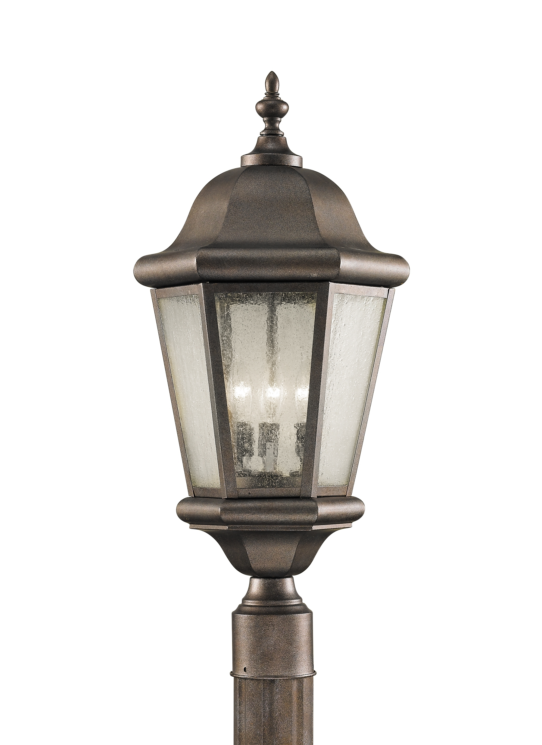 Ol5907Cb,3 – Light Post,corinthian Bronze Pertaining To Most Recently Released Outdoor Hanging Post Lights (View 14 of 20)