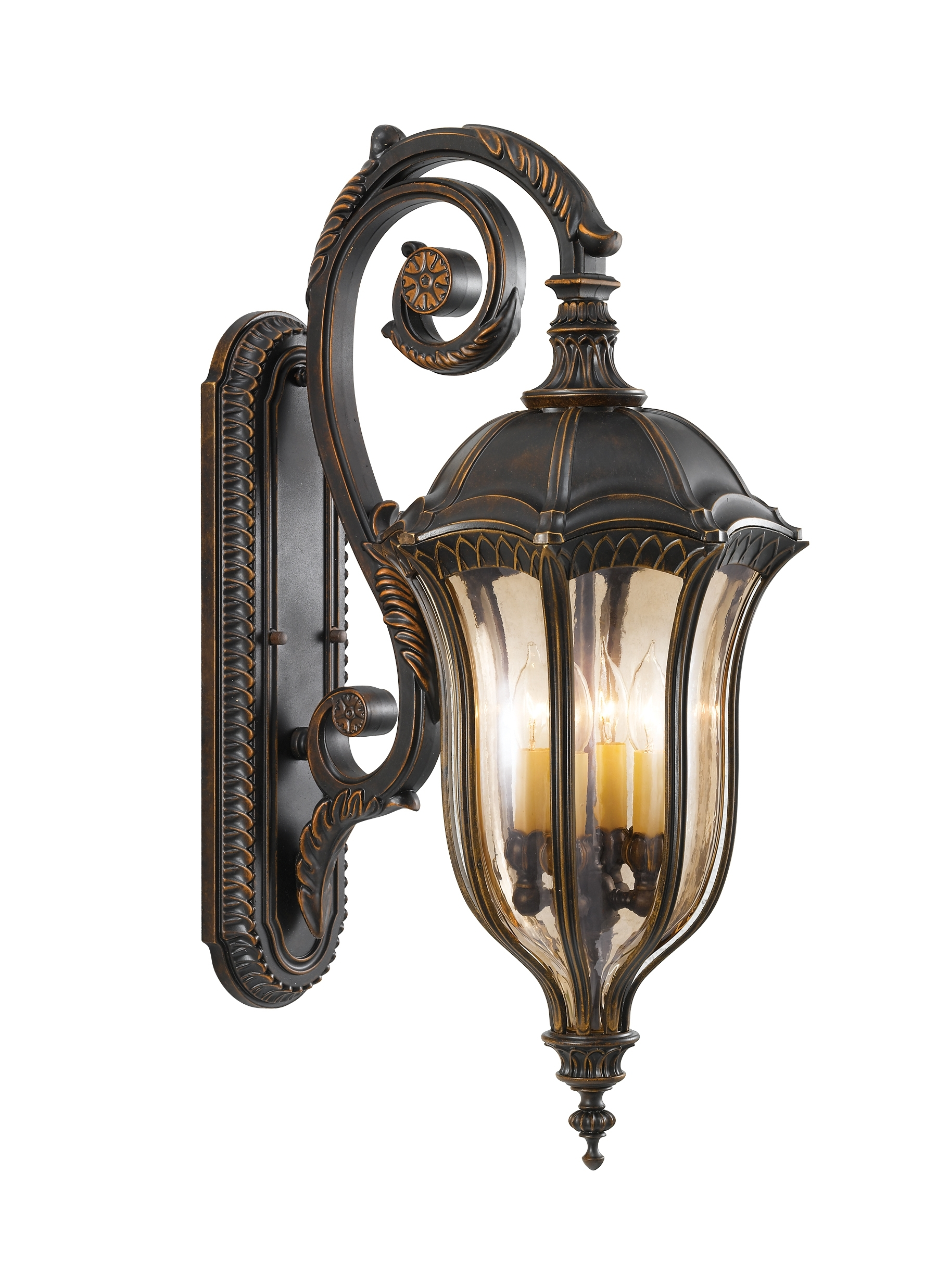 Ol6004Wal,4 – Light Wall Lantern,walnut Pertaining To Best And Newest Tuscan Outdoor Wall Lighting (View 9 of 20)