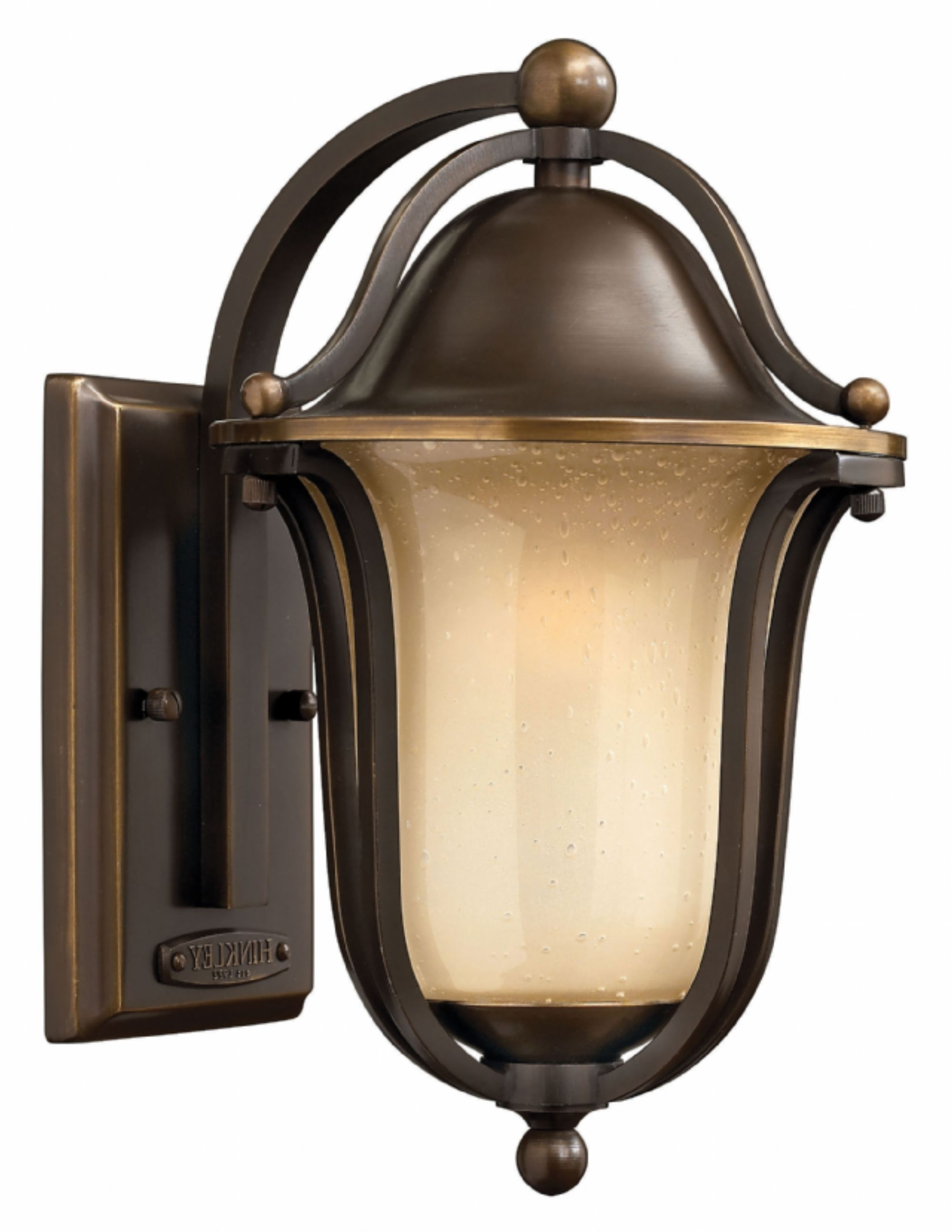 Olde Bronze Bolla > Exterior Wall Mount Inside Most Recently Released Double Wall Mount Hinkley Lighting (View 18 of 20)