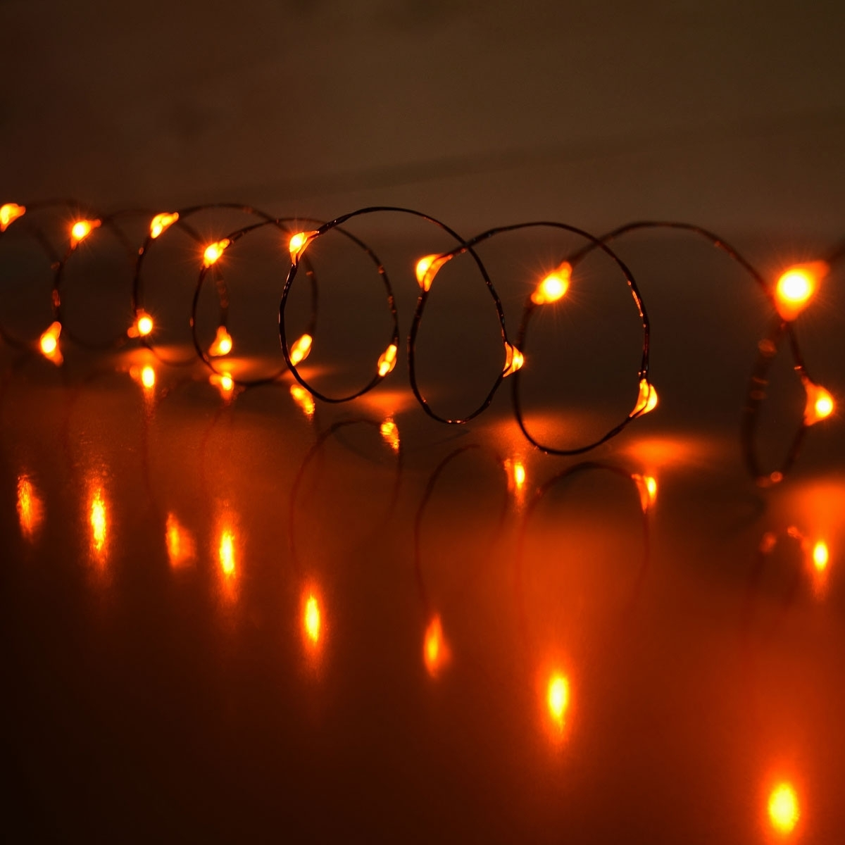 Orange Led Mini Battery Operated String Lights In Newest Battery Operated Outdoor Lights (View 19 of 20)