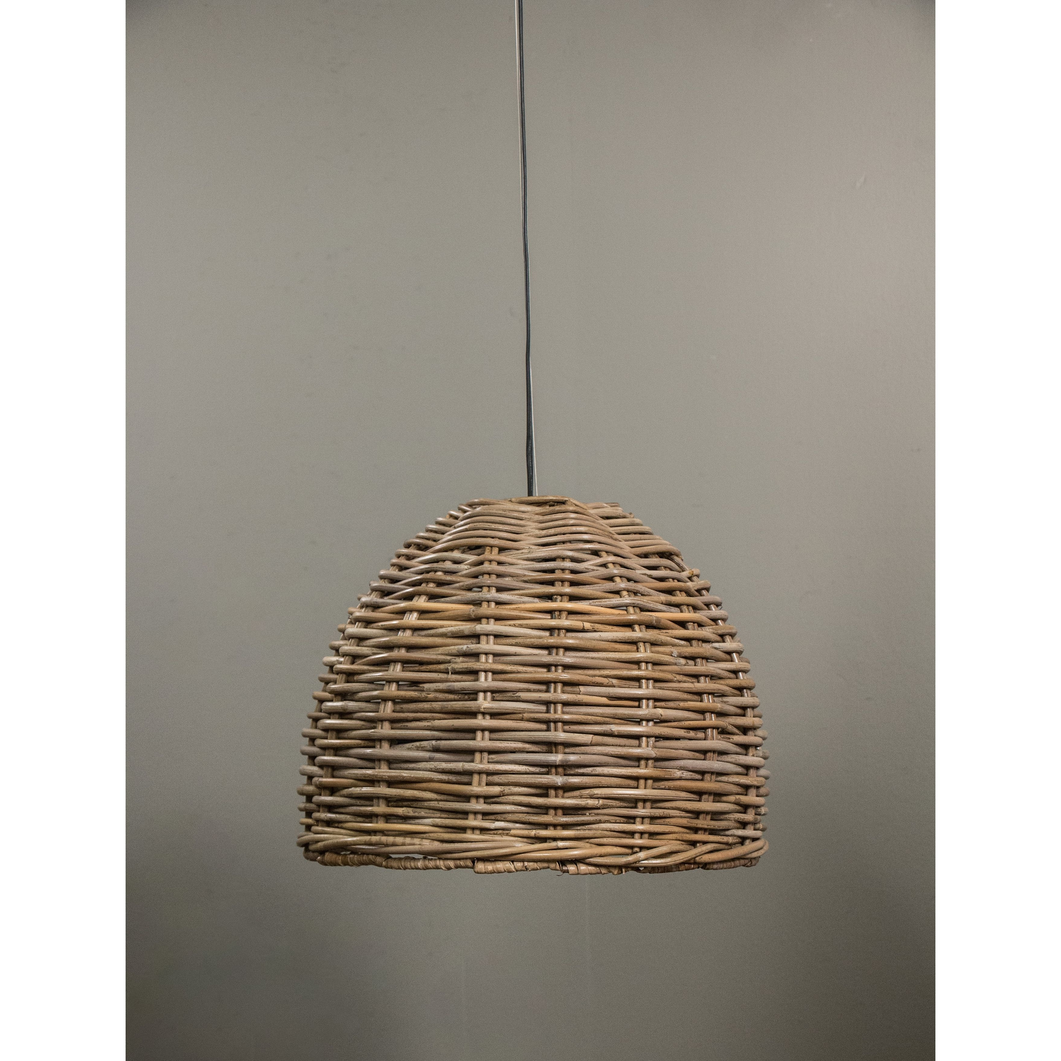 Our Dawson Hanging Lamp Is Made With The Natural Material, Rattan Intended For Popular Outdoor Hanging Wicker Lights (View 10 of 20)