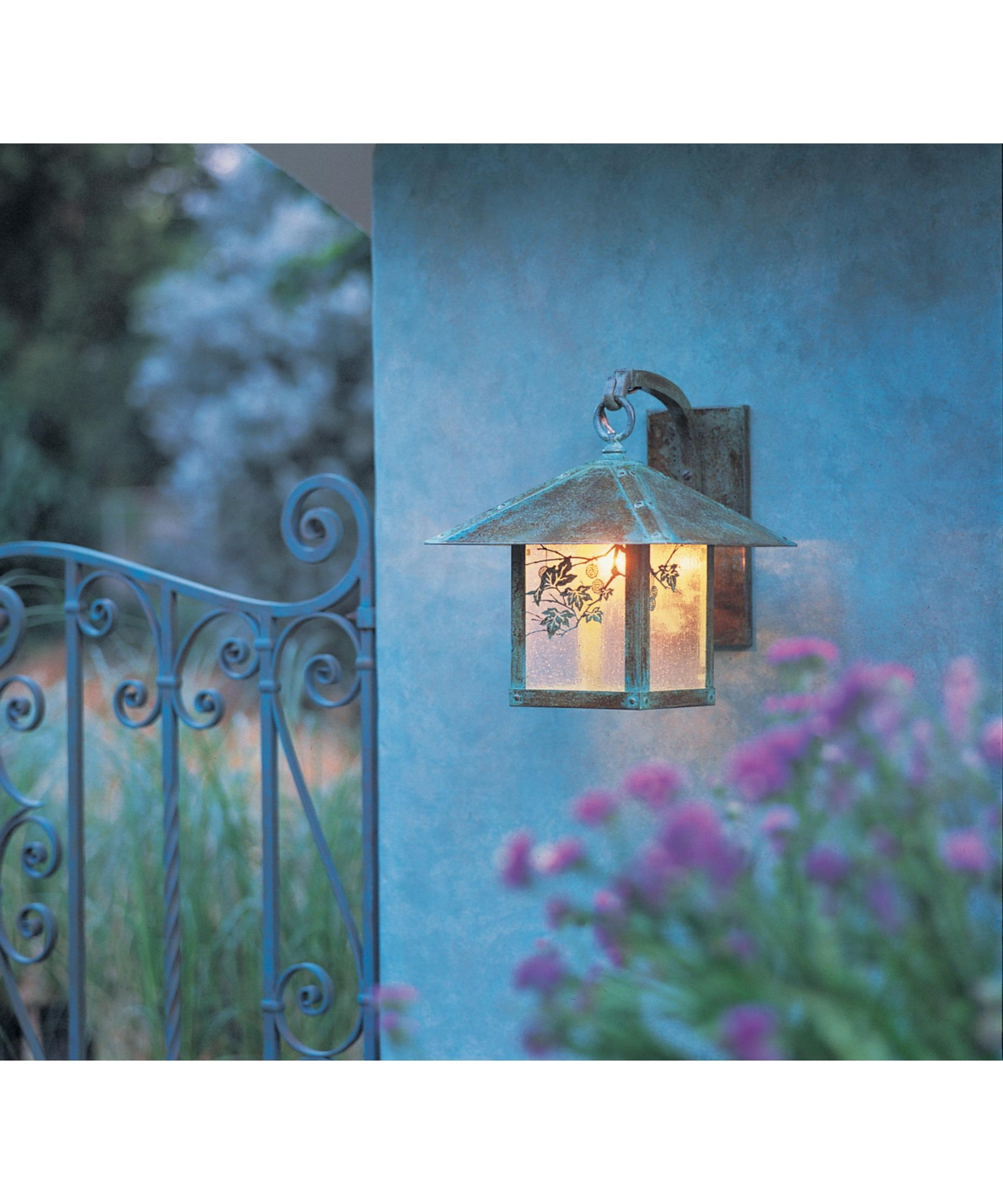 Outdoor And Patio: Outdoor Wall Accent Lighting With Artsitic Floral Throughout Well Known Outdoor Wall Accent Lighting (View 12 of 20)