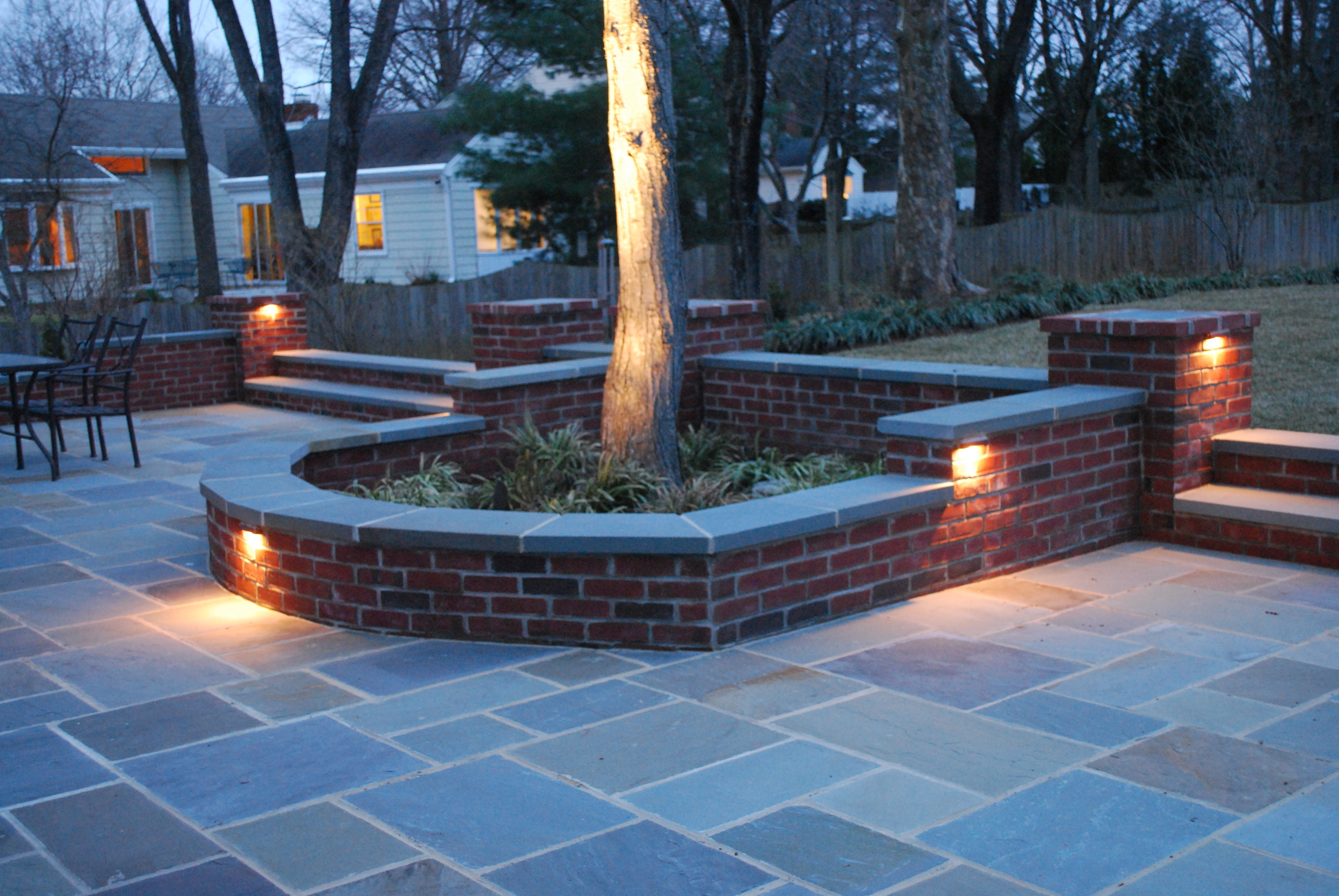 Outdoor Block Wall Lighting Within Most Recently Released Outdoor Patio Brick Lights — Cement Patio : Romantic Outdoor Patio (View 13 of 20)