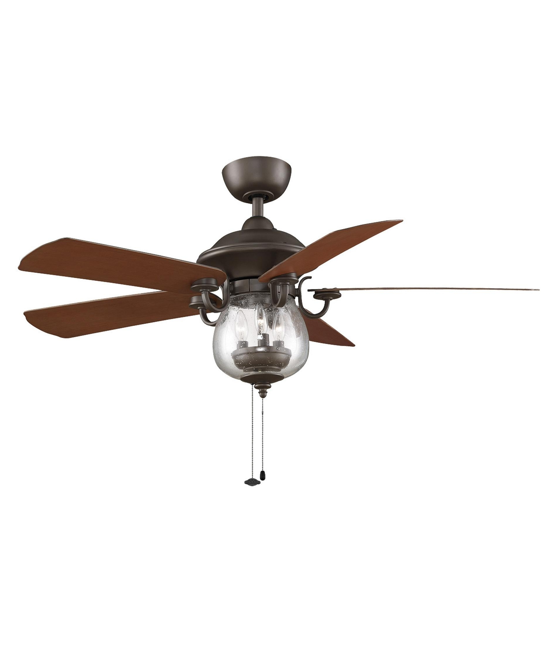 Outdoor Ceiling Fan Lights Throughout Well Liked Fanimation Fp7954 Crestford 52 Inch 5 Blade Ceiling Fan (View 14 of 20)