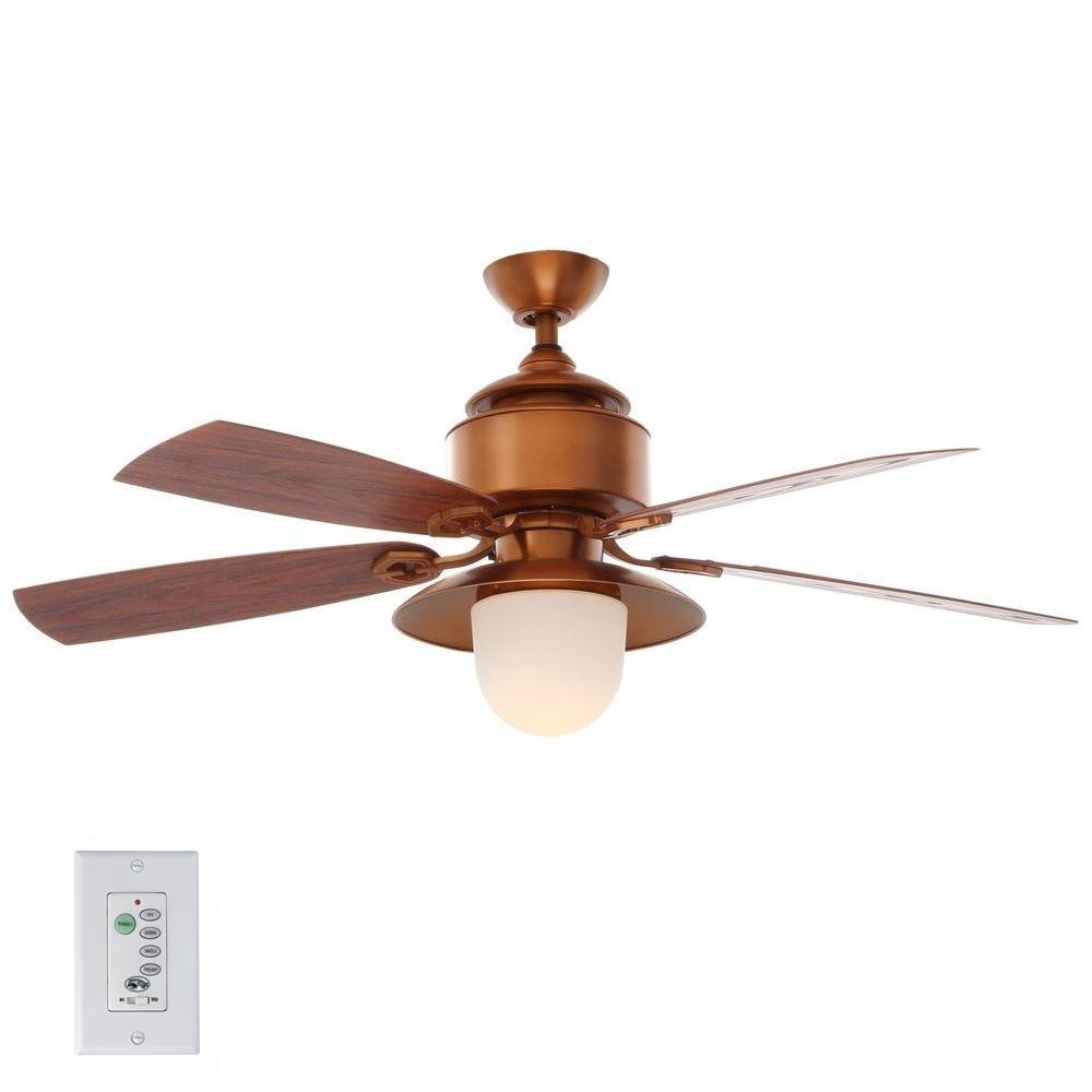 Featured Photo of Outdoor Ceiling Fans With Copper Lights