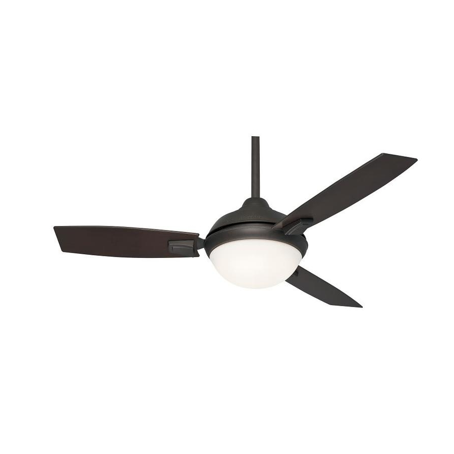 Outdoor Ceiling Fans With Led Lights With Favorite Shop Casablanca Verse Led 44 In Maiden Bronze Led Indoor/outdoor (View 15 of 20)