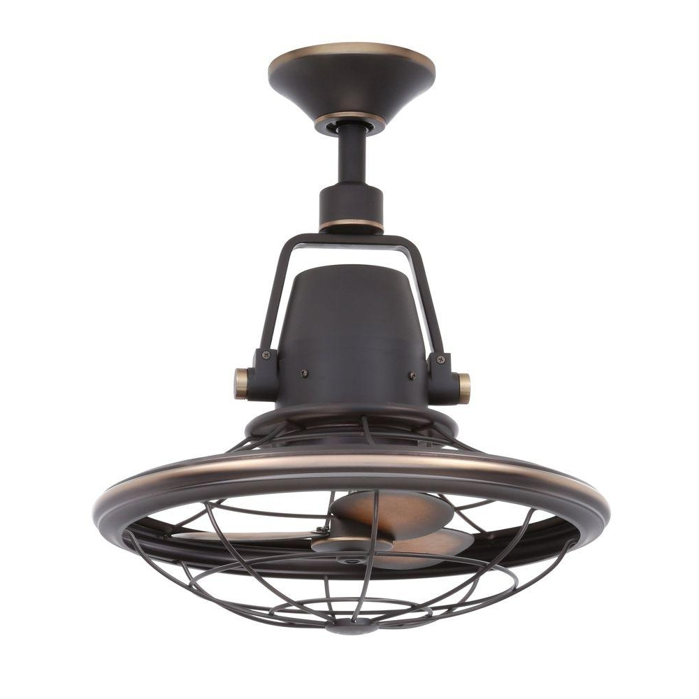 Outdoor Ceiling Fans With Lights At Home Depot Intended For Well Known Home Decorators Collection Bentley Ii 18 In (View 15 of 20)