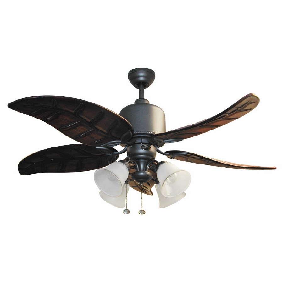 Outdoor Ceiling Fans With Lights At Lowes Within 2018 Shop Harbor Breeze 52 In Tahoe Outdoor Ceiling Fan With Light Kit At (View 20 of 20)