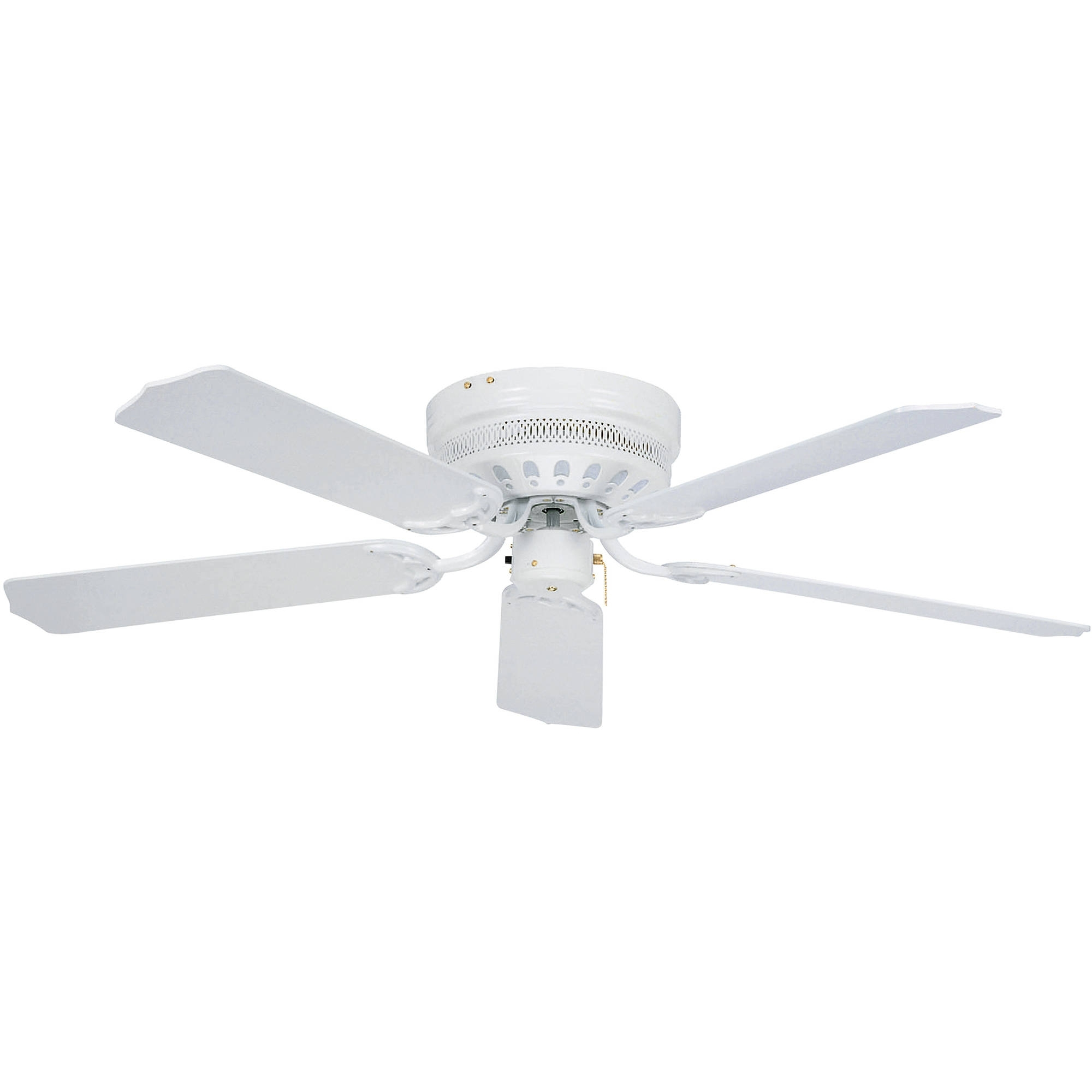 "Outdoor Ceiling Fans With Lights At Walmart Throughout Latest 42"" Mainstays Hugger Indoor Ceiling Fan With Light, White – Walmart (View 13 of 20)"