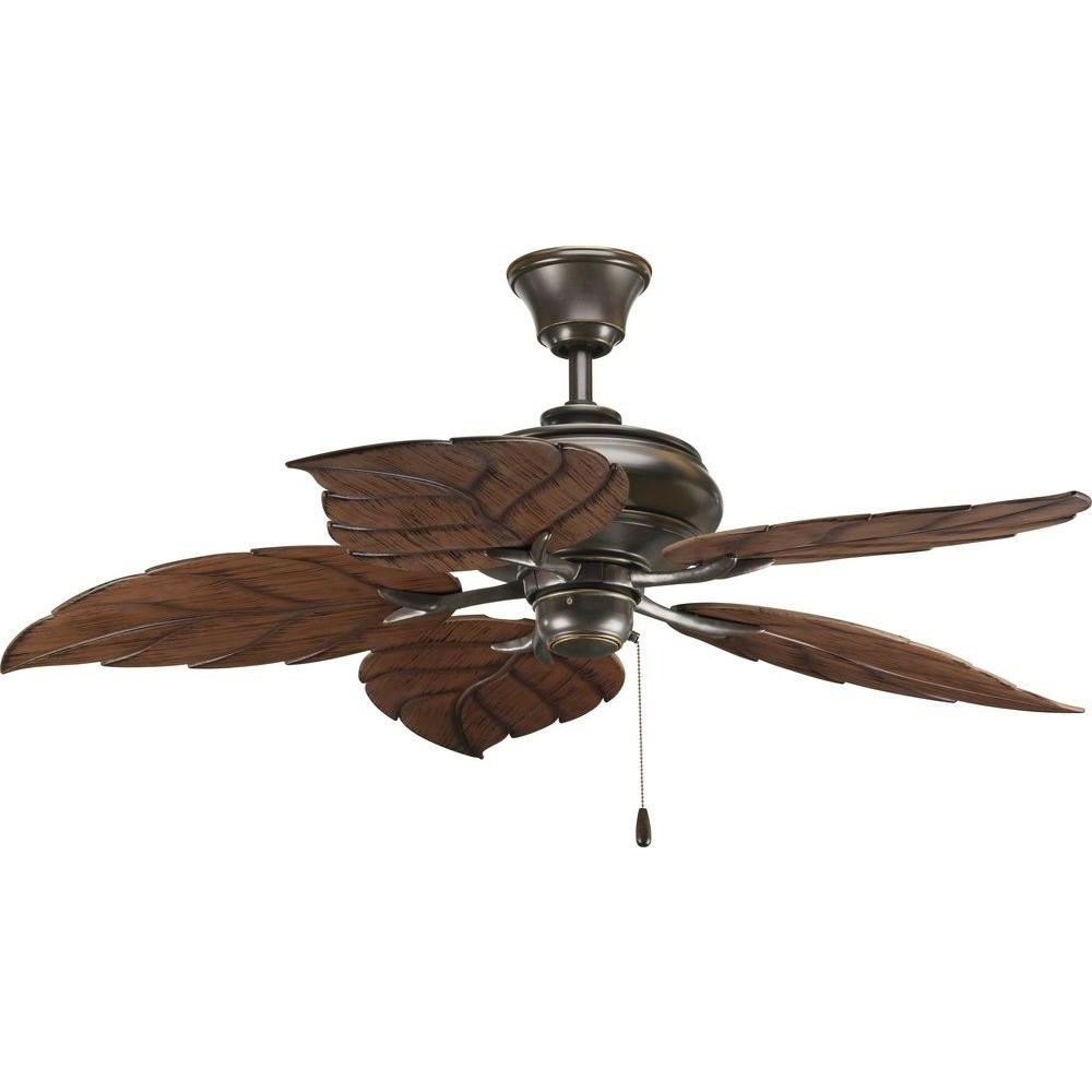 Outdoor Ceiling Fans With Tropical Lights Intended For Preferred Progress Lighting Airpro 52 In (View 16 of 20)