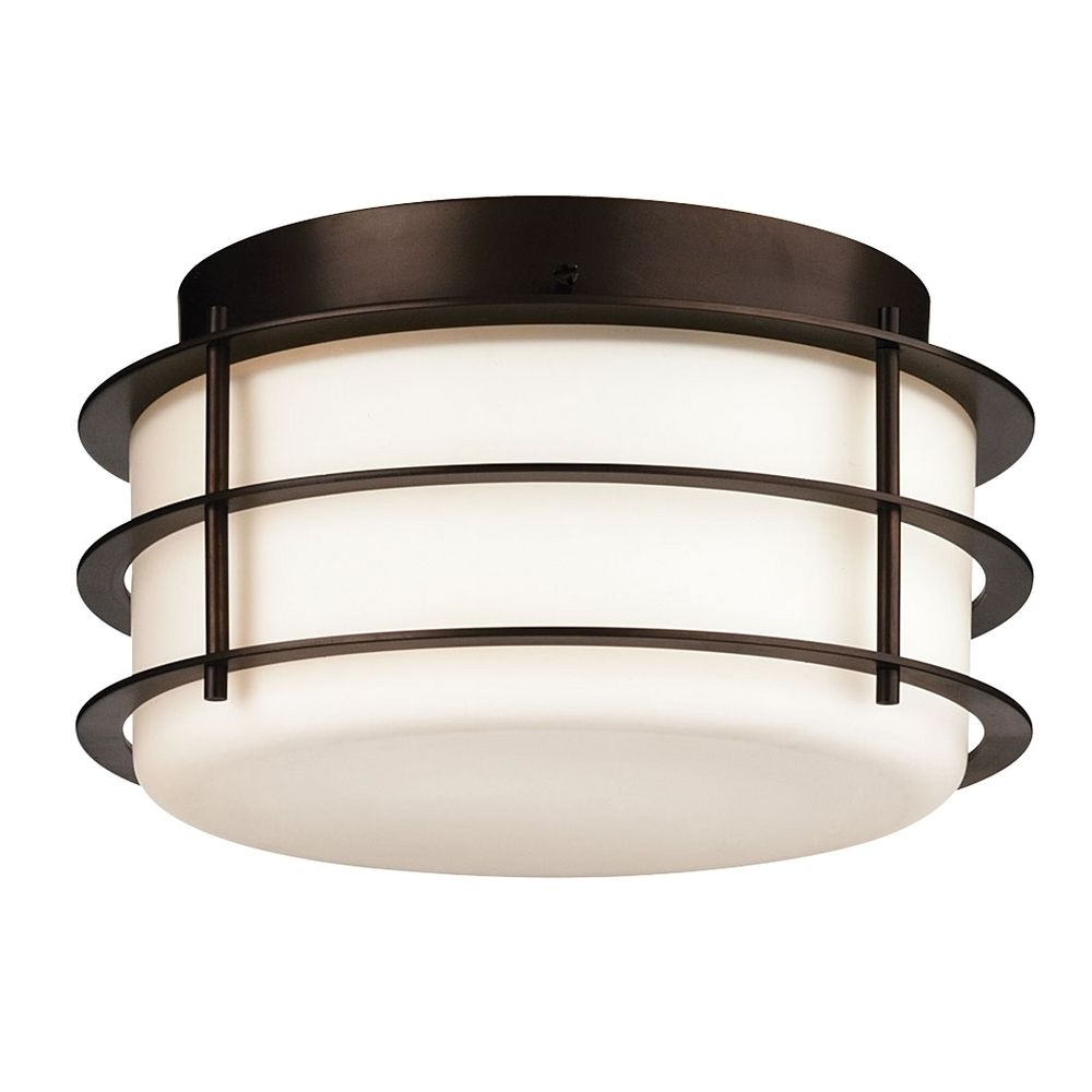 Outdoor Ceiling Flush Lights With Current Light : Antique Drum Outdoor Ceiling Lights For Porch Beautiful (View 15 of 20)