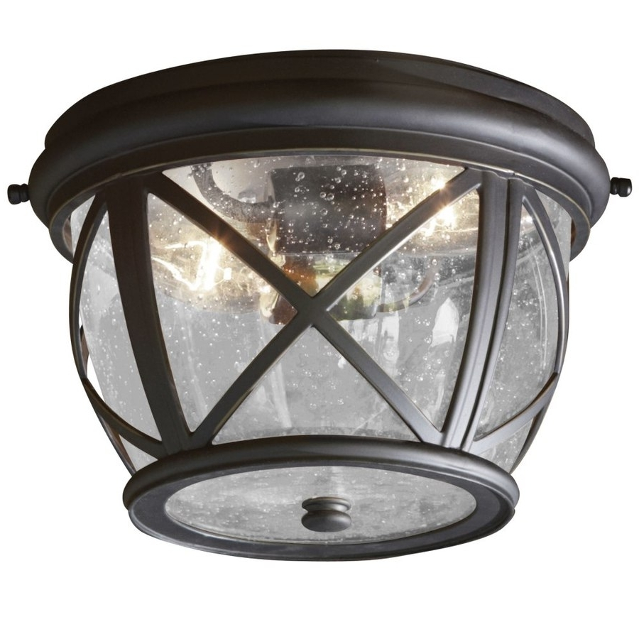 Outdoor Ceiling Flush Mount Lights Pertaining To Widely Used Shop Outdoor Flush Mount Lights At Lowes (View 15 of 20)