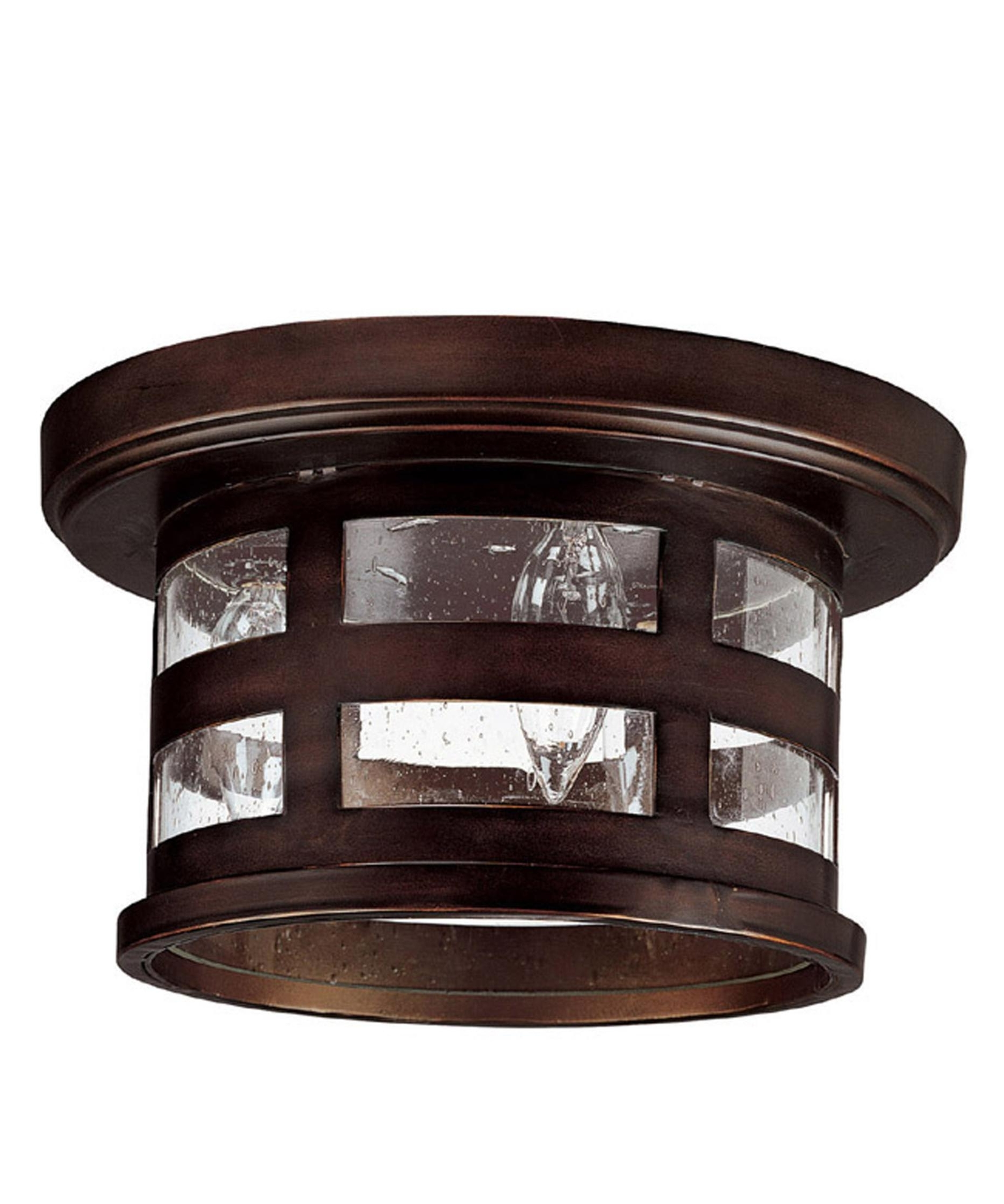Outdoor Ceiling Flush Mount Lights Throughout Most Up To Date Capital Lighting 9956 Mission Hills 11 Inch Wide 3 Light Outdoor (View 16 of 20)