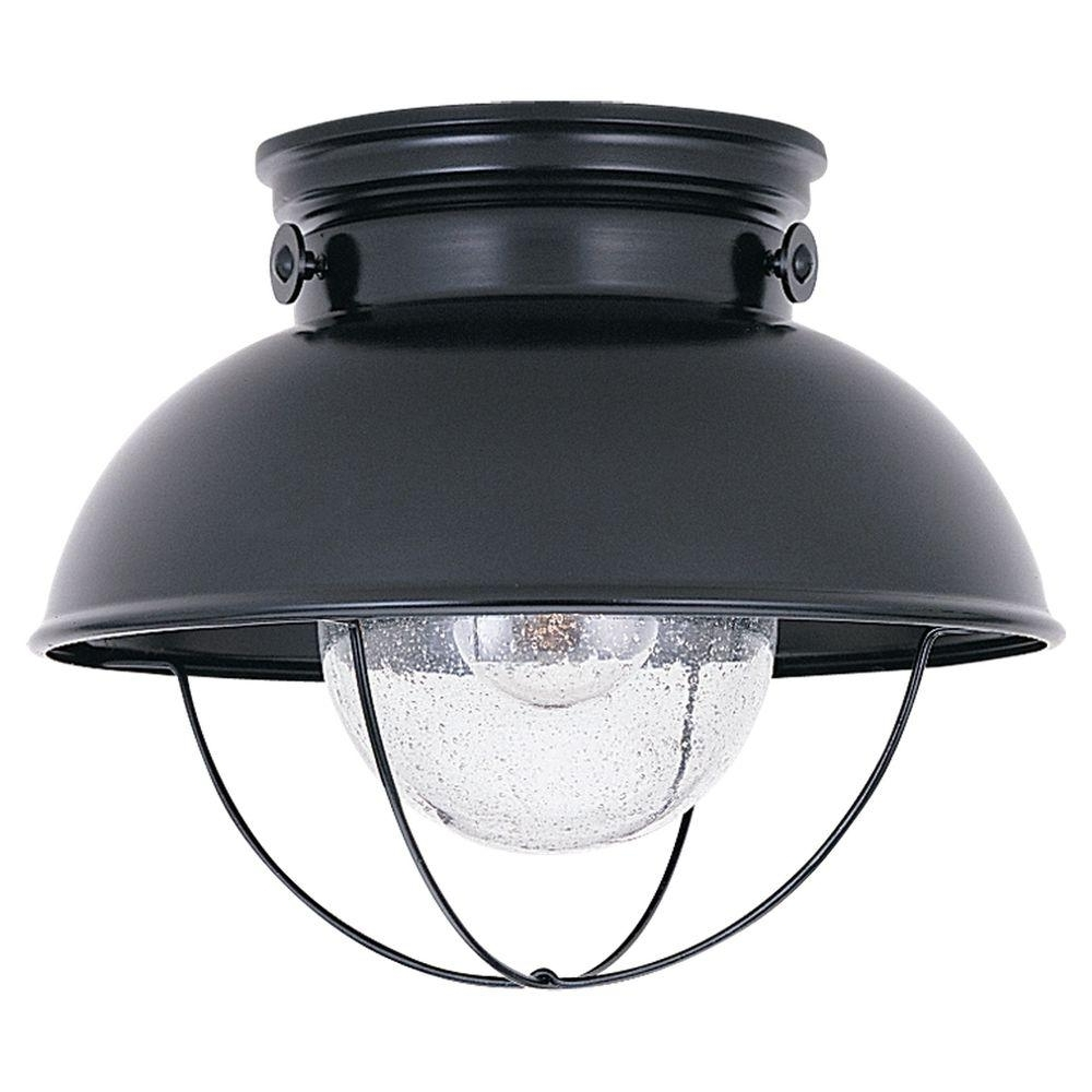 Outdoor Ceiling Lights At Home Depot Pertaining To Well Known Coastal/nautical – Outdoor Ceiling Lighting – Outdoor Lighting – The (View 11 of 20)