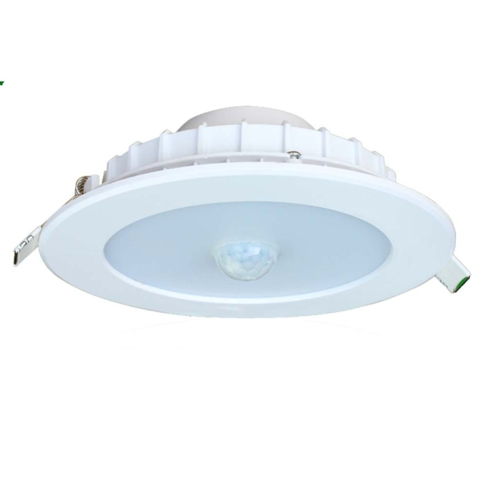 Outdoor Ceiling Lights With Motion Sensor Intended For Best And Newest Square Black Finish Motion Sensor Outdoor Ceiling Light • Ceiling Lights (View 12 of 20)