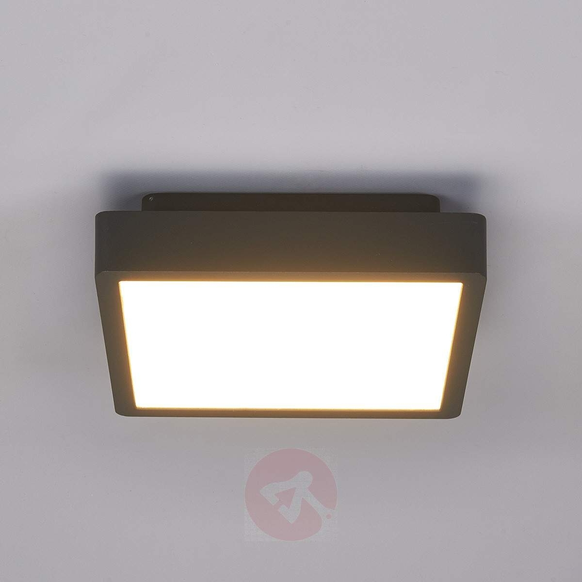 Outdoor Ceiling Lights With Regard To Best And Newest Rectangular Led Outdoor Ceiling Light Talea (View 7 of 20)