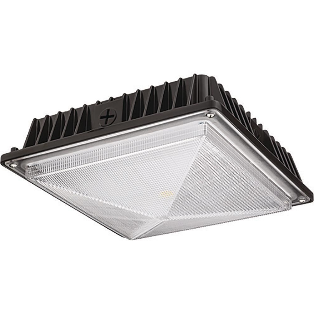 Outdoor Ceiling Mount Led Lights Regarding Well Known Lithonia Lighting Bronze Outdoor Integrated Led Square Canopy (View 15 of 20)