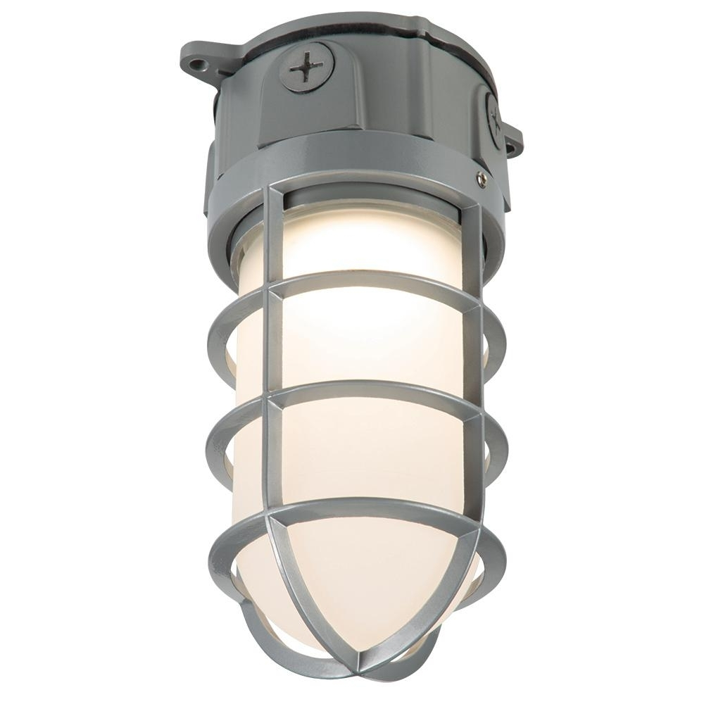 Outdoor Ceiling Security Lights Pertaining To Well Known Halo Gray Outdoor Integrated Led Vapor Tight Wall And Ceiling (View 6 of 20)