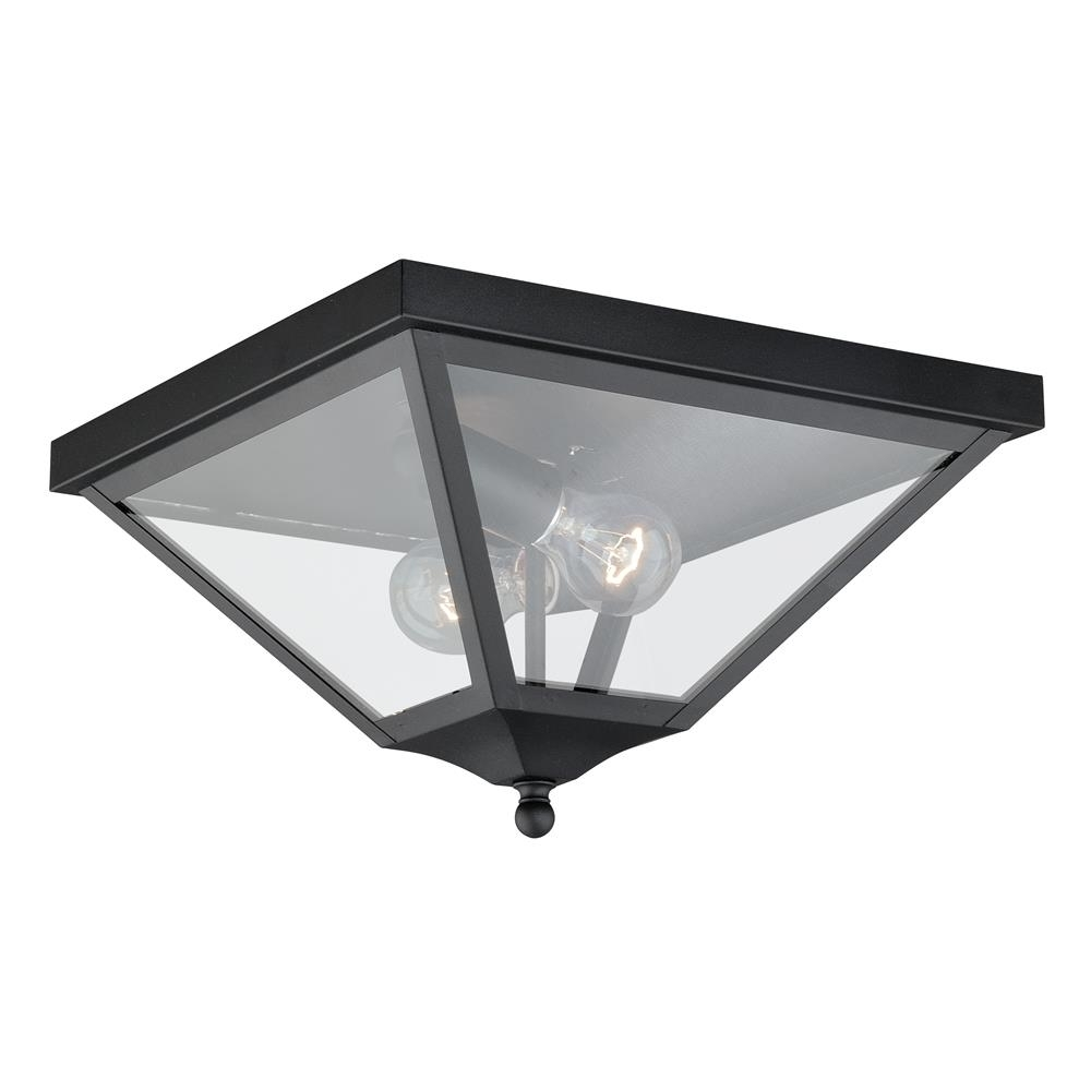 Outdoor Ceiling Spotlights Pertaining To Latest Vaxcel Lighting Outdoor Flush / Semi Flush Mount Ceiling Lighting (View 11 of 20)