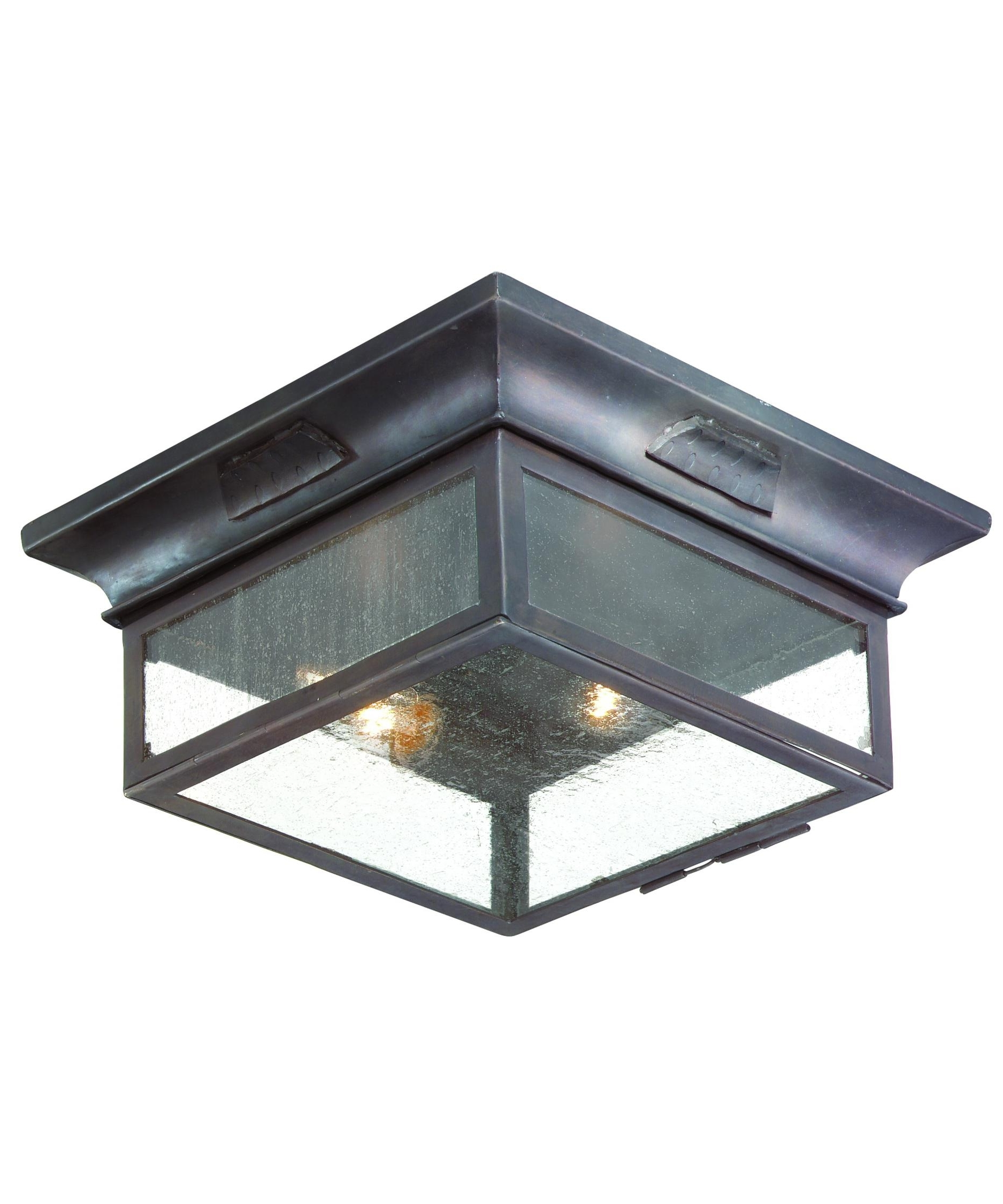 Outdoor Close To Ceiling Lights Within Well Known Troy Lighting C9000 Newton 13 Inch Wide 2 Light Outdoor Flush Mount (View 15 of 20)