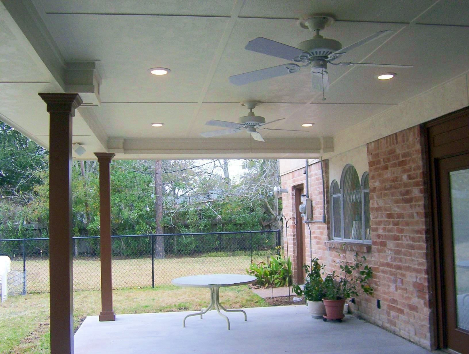 Outdoor Deck Ceiling Lights Intended For Most Popular Patio Outdoor Ceiling Fan With Light (View 10 of 20)