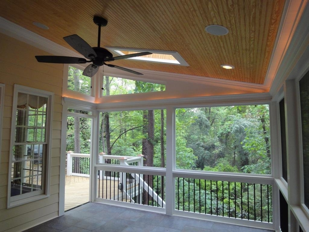 Outdoor Deck Ceiling Lights Within Popular Porch Ceiling : Screen Porch Ceiling Raleigh Screen Porch Rope (View 17 of 20)