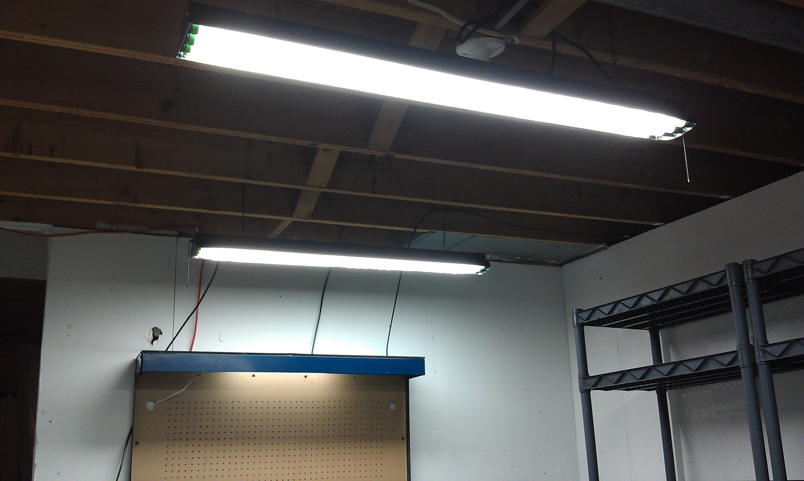 Outdoor Fluorescent Ceiling Lights Within Trendy Light : Modern Suspended Fluorescent Lighting Drop Ceiling Light (View 5 of 20)