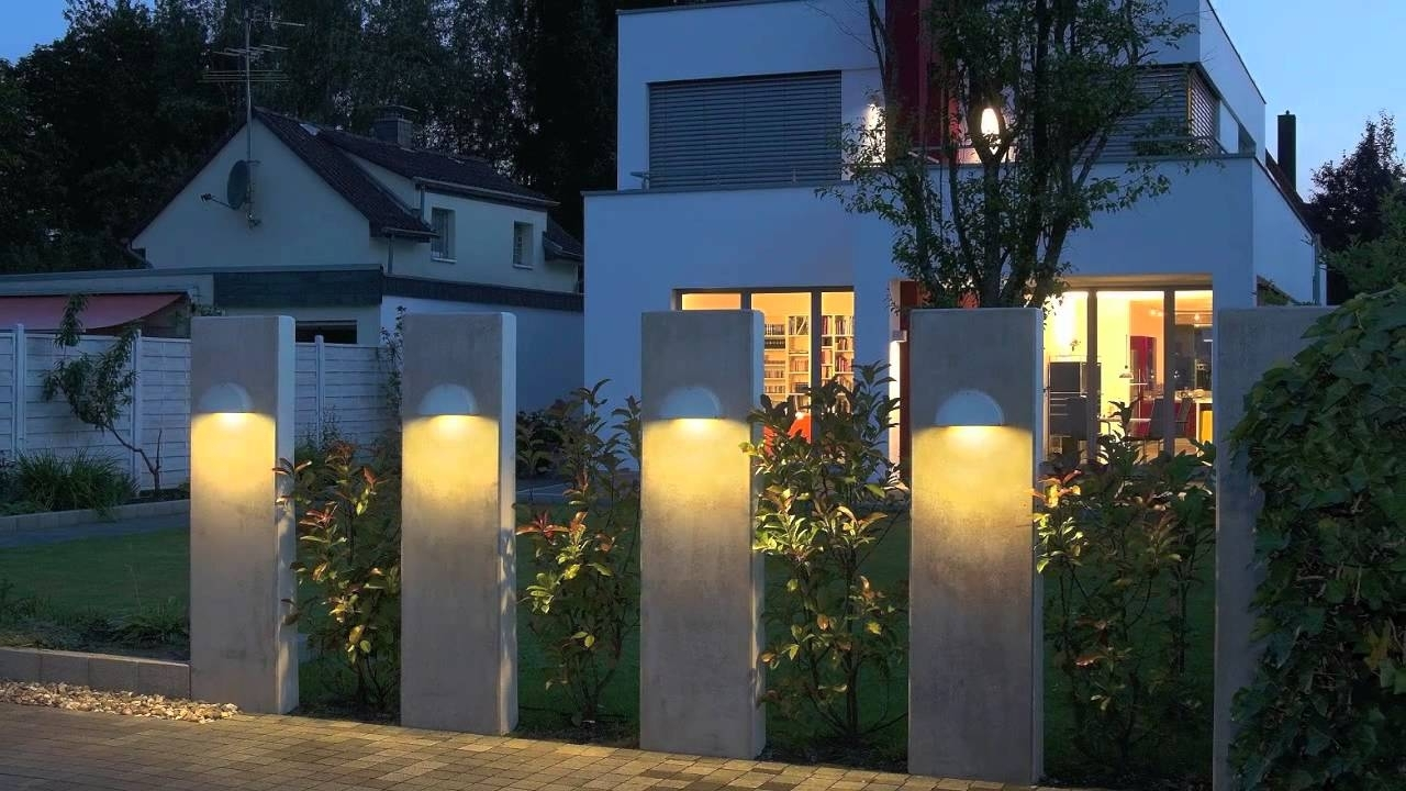 Outdoor Garage : Modern Exterior Lighting Garage Light Fixtures Led Throughout Most Current Outside Wall Lights For House (View 10 of 20)