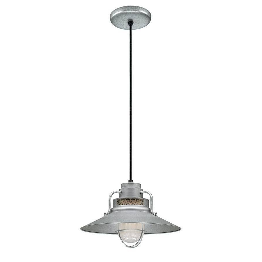 Outdoor Hanging Barn Lights For Current Shop Millennium Lighting R Series 14 In Galvanized Farmhouse Mini (View 14 of 20)
