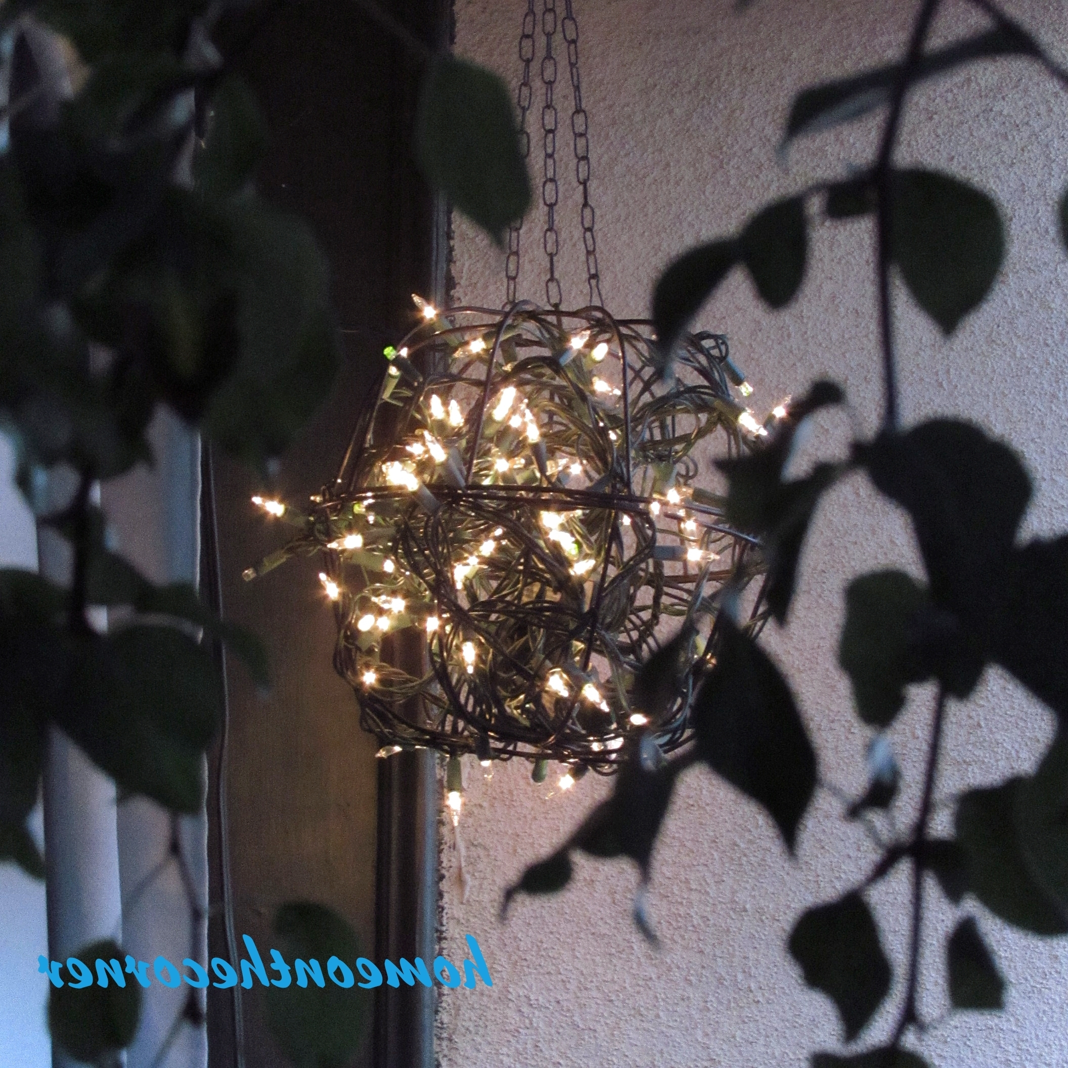 Outdoor Hanging Basket Lights Intended For Famous Hanging Flower Basket Light – Home On The Corner (View 13 of 20)