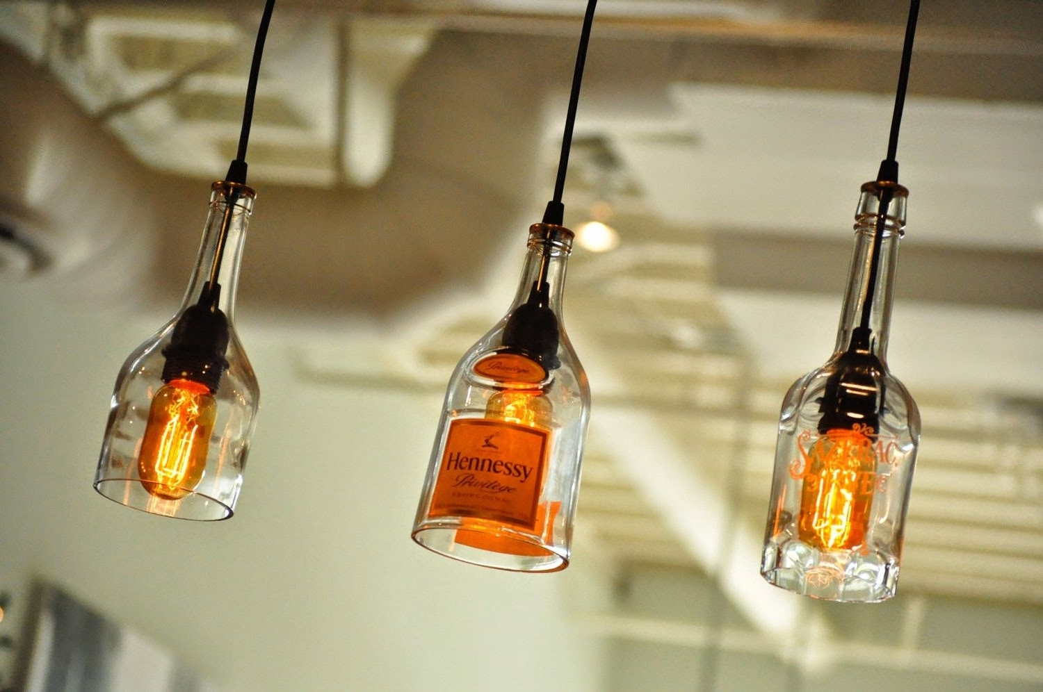 Outdoor Hanging Bottle Lights For Preferred Diy : Awesome Homemade Interior Lighting India Hanging Lamp Wire Diy (View 16 of 20)