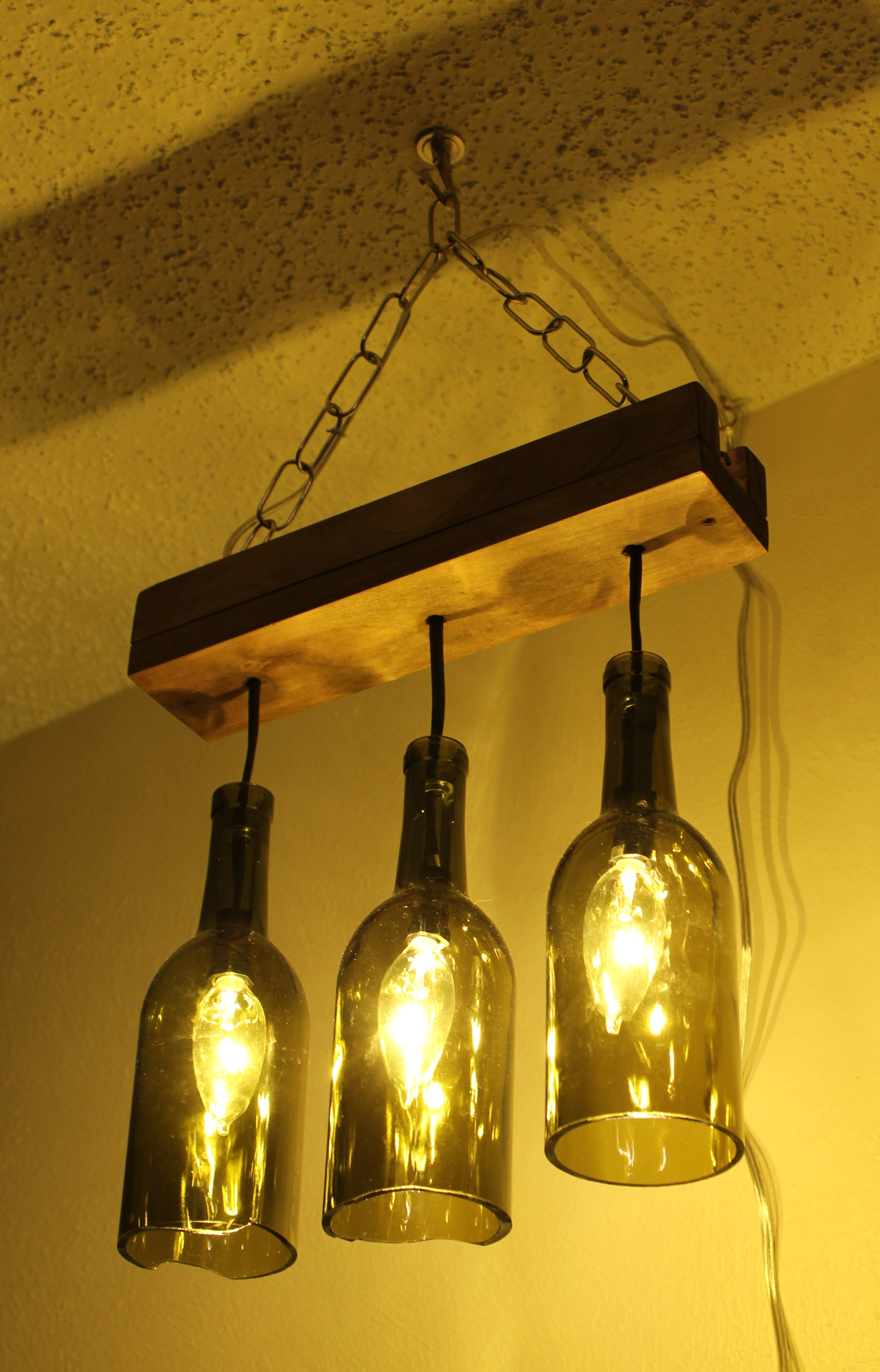 Outdoor Hanging Bottle Lights With Regard To Most Recent Light: Wine Bottle Lights Hanging (View 12 of 20)