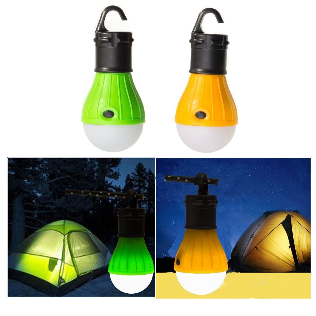 Outdoor Hanging Camping Lights In Best And Newest Special  Hanging 3 Led Camping Tent Light Bulb Fishing Lantern Lamp (View 9 of 20)