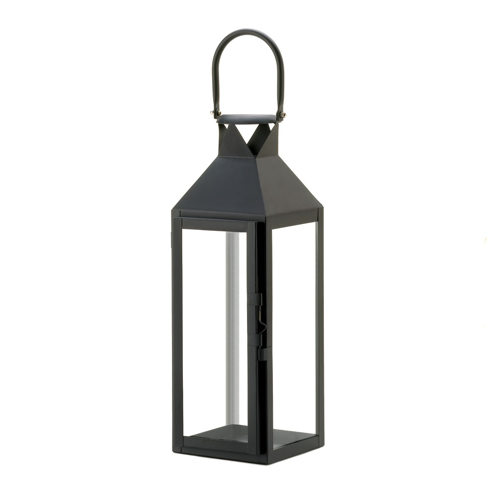 Outdoor Hanging Candle Lanterns Intended For Most Recently Released Wholesale Black Manhattan Candle Lantern – Buy Wholesale Candle Lanterns (View 6 of 20)