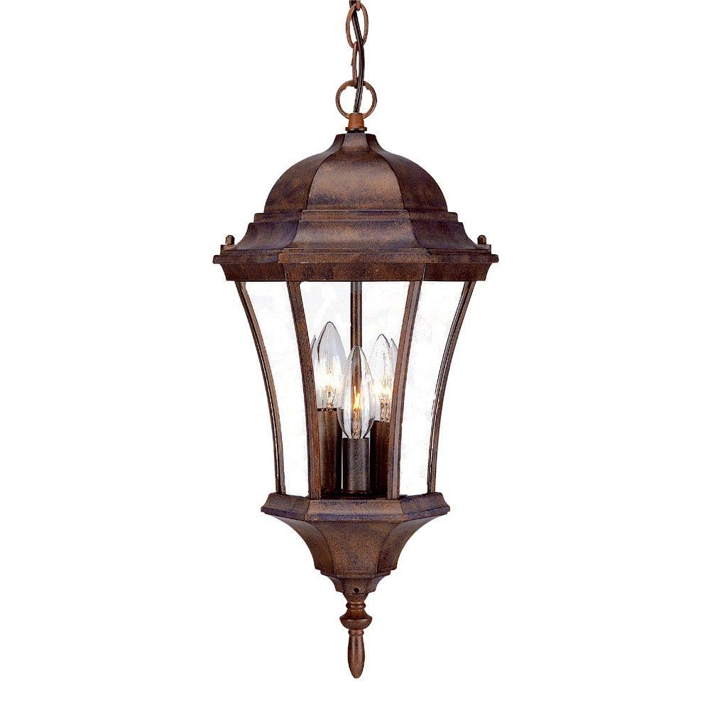 Outdoor Hanging Carriage Lights Inside Current Acclaim Lighting Brynmawr Collection Hanging Lantern 3 Light Outdoor (View 9 of 20)