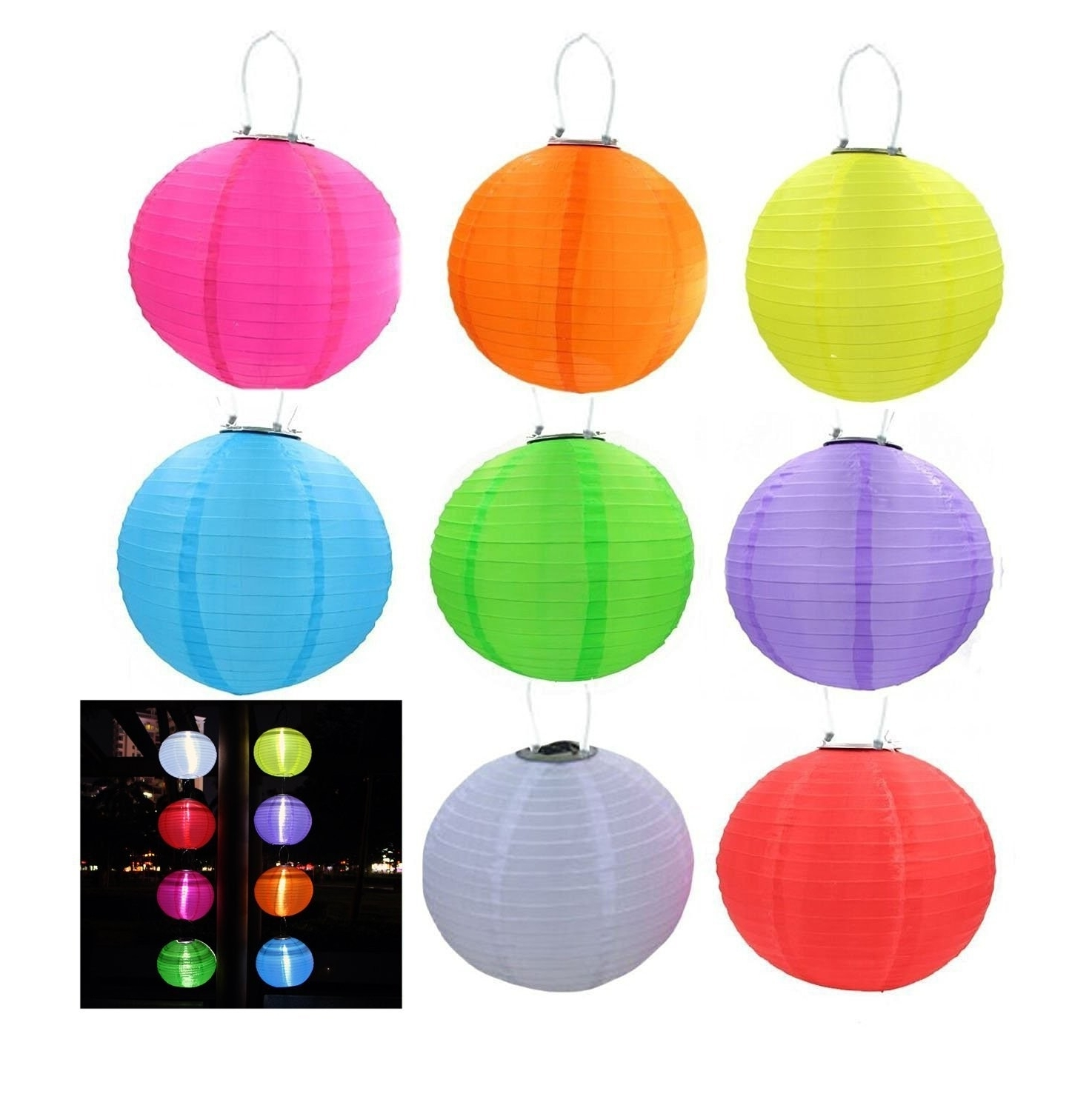 Outdoor Hanging Chinese Lanterns In Most Popular Riorand Solar Lantern Lights Led Outdoor Hanging Lights Waterproof (View 3 of 20)