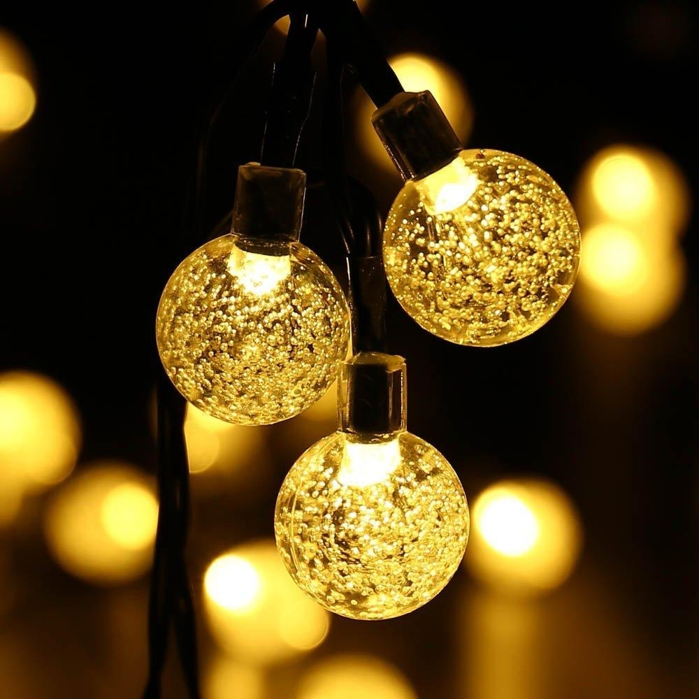 Outdoor Hanging Christmas Light Balls For Current Outdoor String Lights Solar : Appealing Outdoor String Lights Garden (View 19 of 20)
