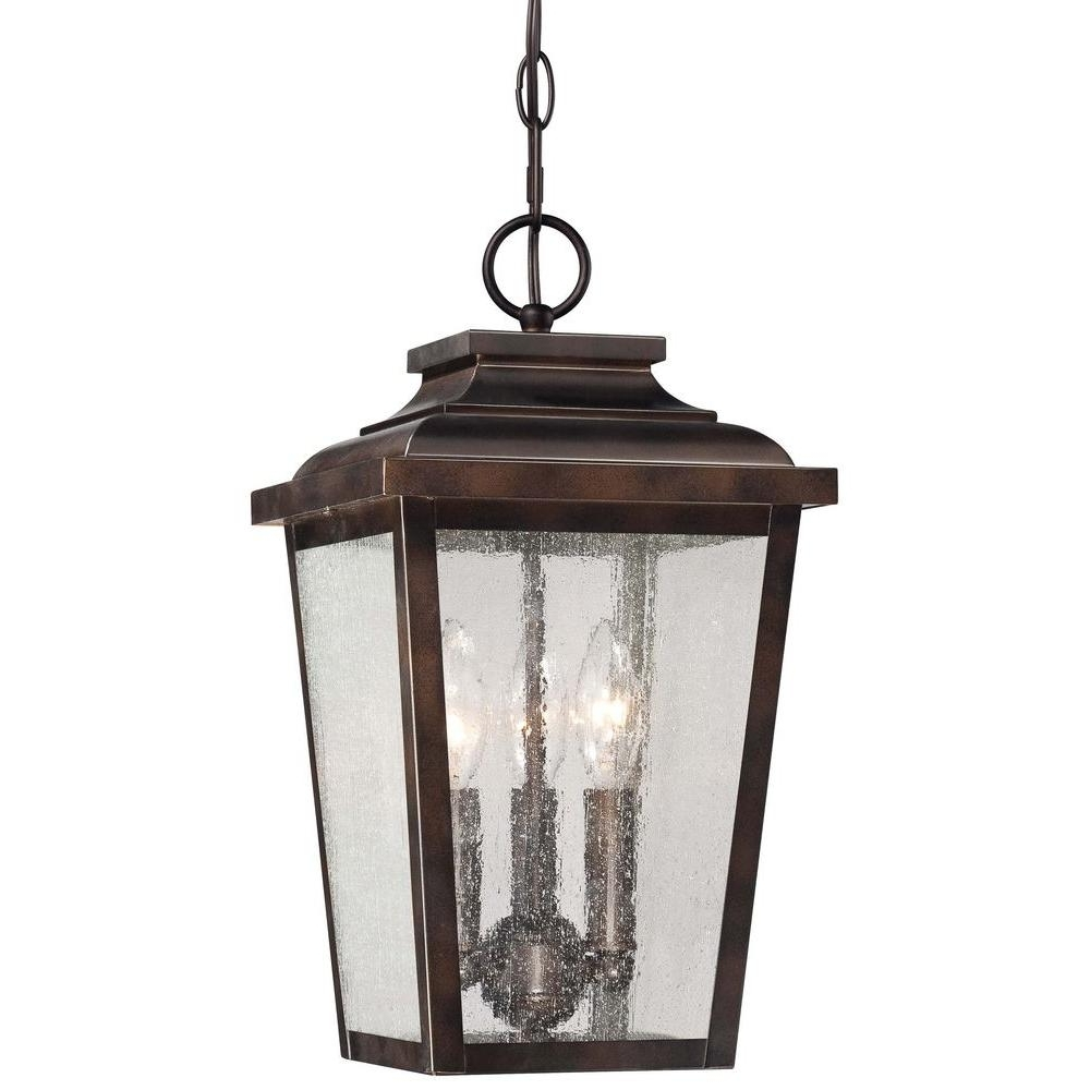 Outdoor Hanging Decorative Lanterns With Regard To Best And Newest The Great Outdoorsminka Lavery Irvington Manor 3 Light Chelsea (View 12 of 20)