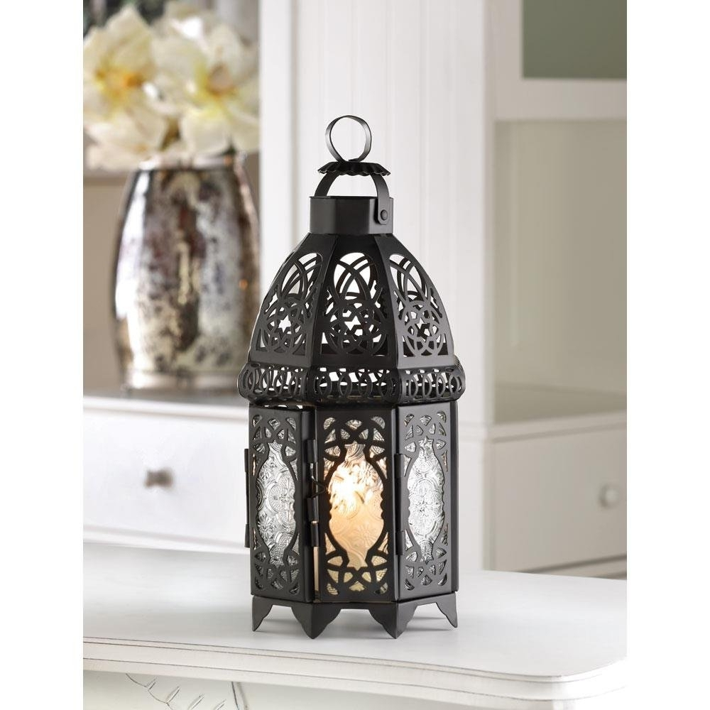 Outdoor Hanging Decorative Lanterns Within Newest Outdoor Lantern, Black Lattice Hanging Metal Decorative Floor (View 16 of 20)