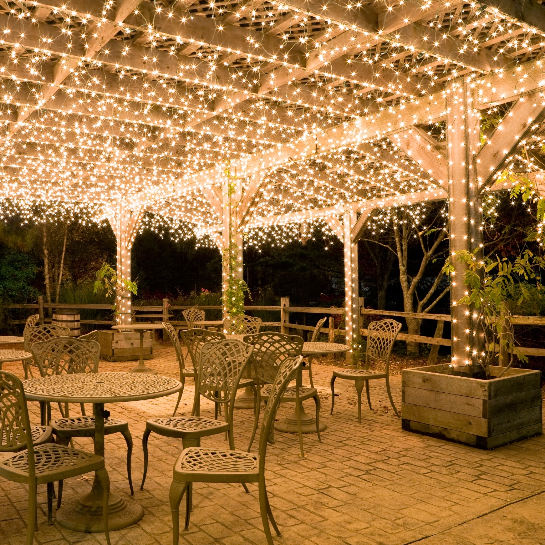 Outdoor Hanging Fairy Lights Inside Most Popular Diy : Country Ideas For Outdoor Christmas Lights Under Pergola (View 9 of 20)