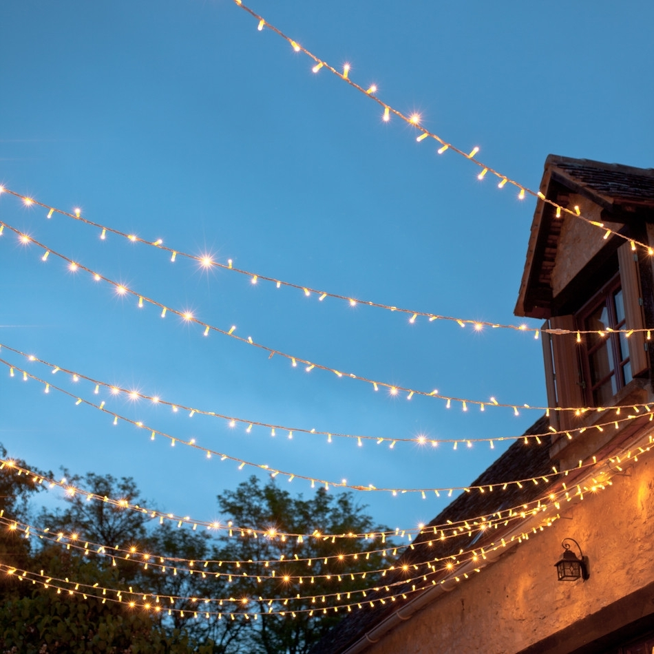 Outdoor Hanging Fairy Lights Throughout Famous Outdoor String Lights Ideas : Appealing Outdoor String Lights Garden (View 7 of 20)