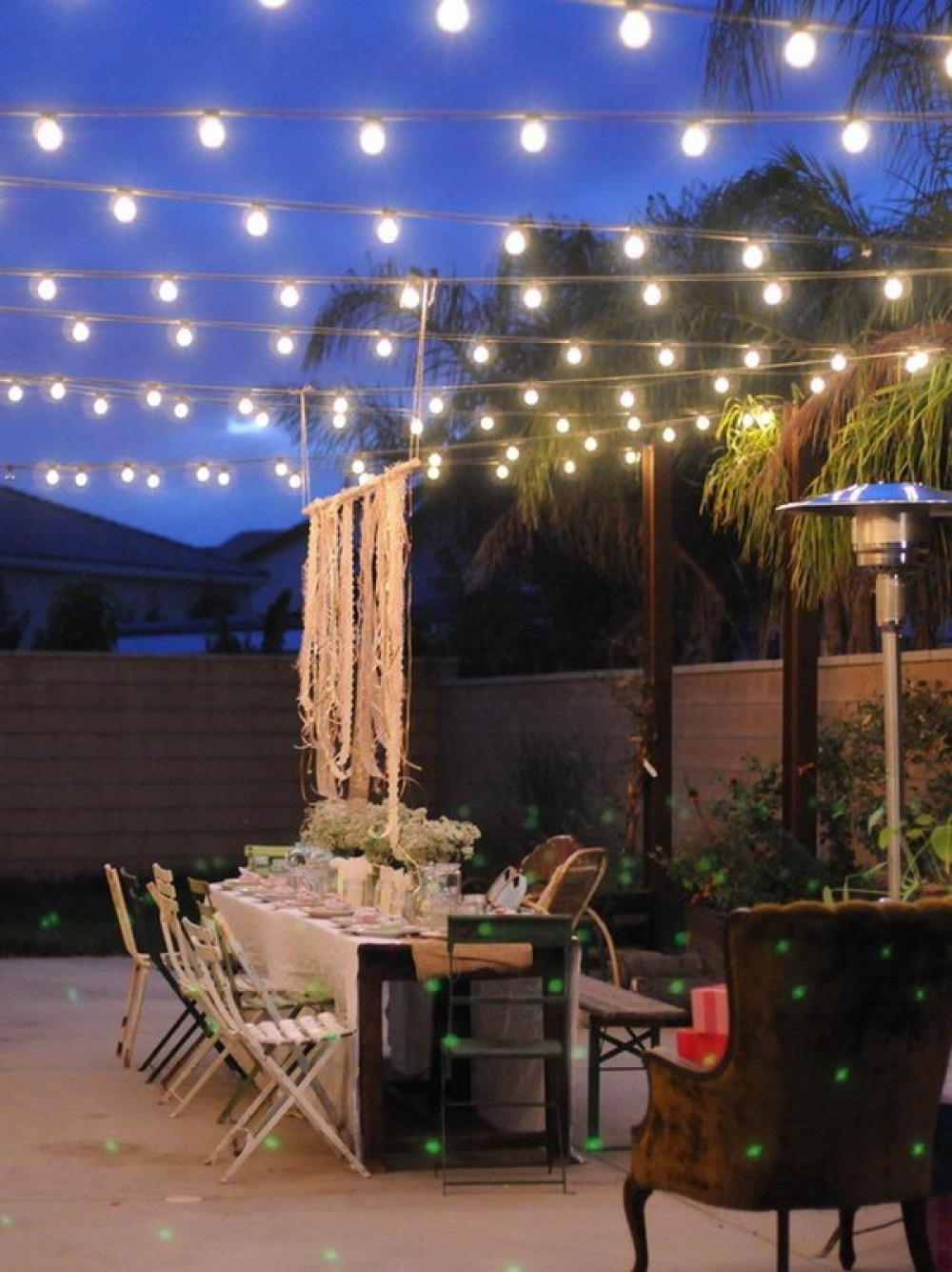 Outdoor Hanging Garden Lights Inside Most Up To Date Incredible Hanging Patio Lights The Benefits Of Outdoor Patio Lights (View 11 of 20)