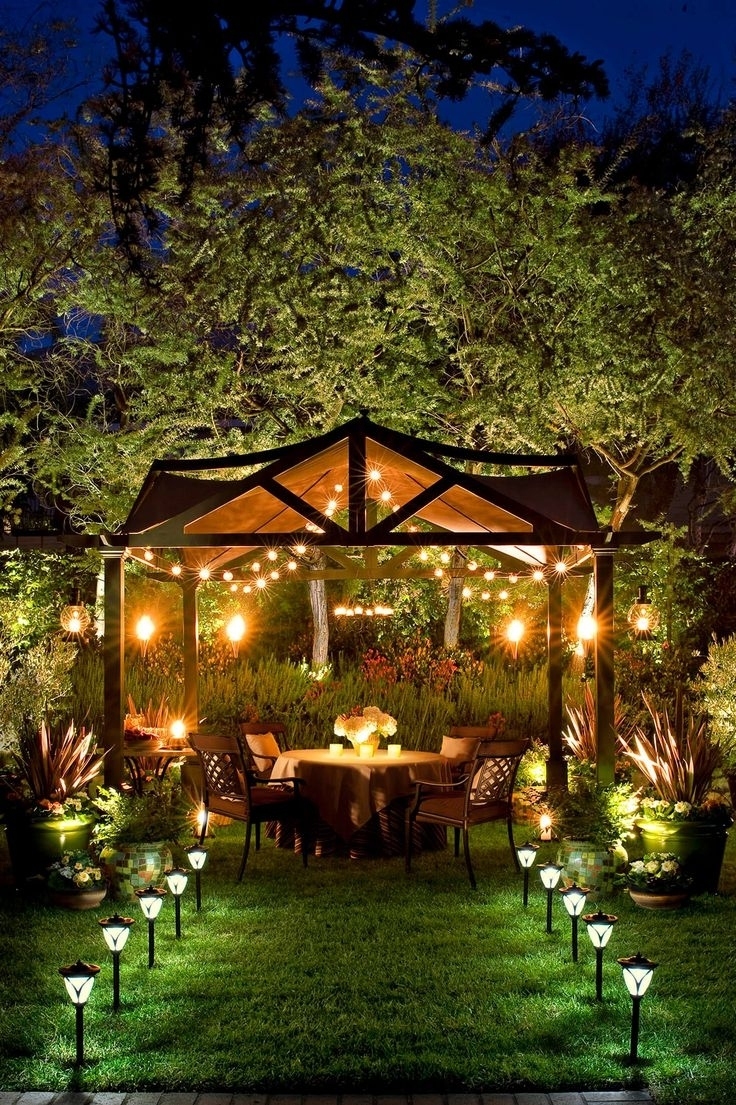 Outdoor Hanging Garden Lights Throughout Fashionable 213 Best Lighting Ideas Images On Pinterest (View 8 of 20)