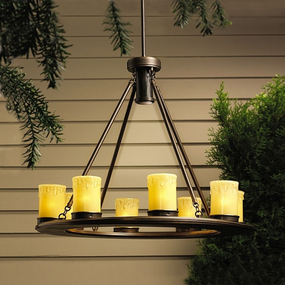 Outdoor Hanging Gazebo Lights With 2019 Chandeliers Design : Magnificent Hanging Outdoor Chandeliers For (View 14 of 20)