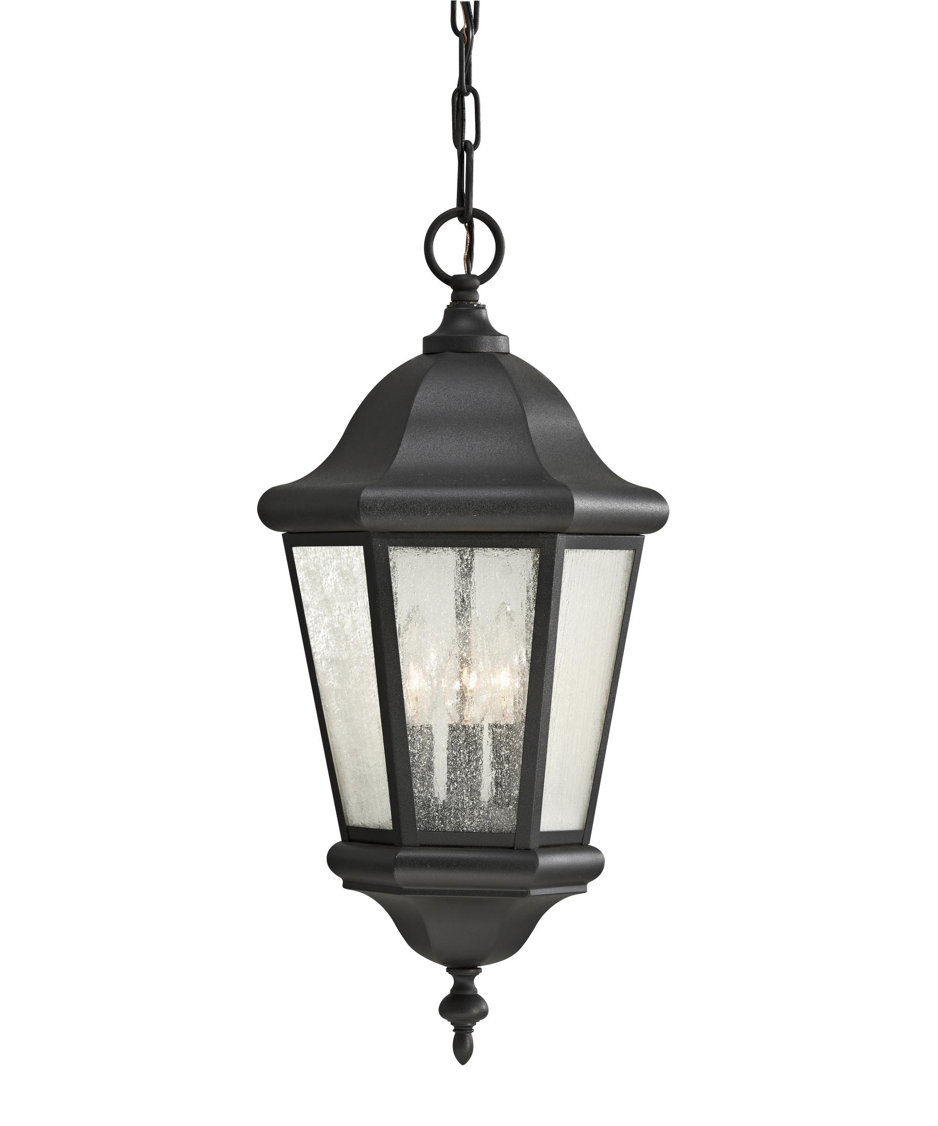 Outdoor Hanging Glass Lanterns For Well Known Murray Feiss Ol5911 Martinsville 10 Inch Wide 3 Light Outdoor (View 17 of 20)
