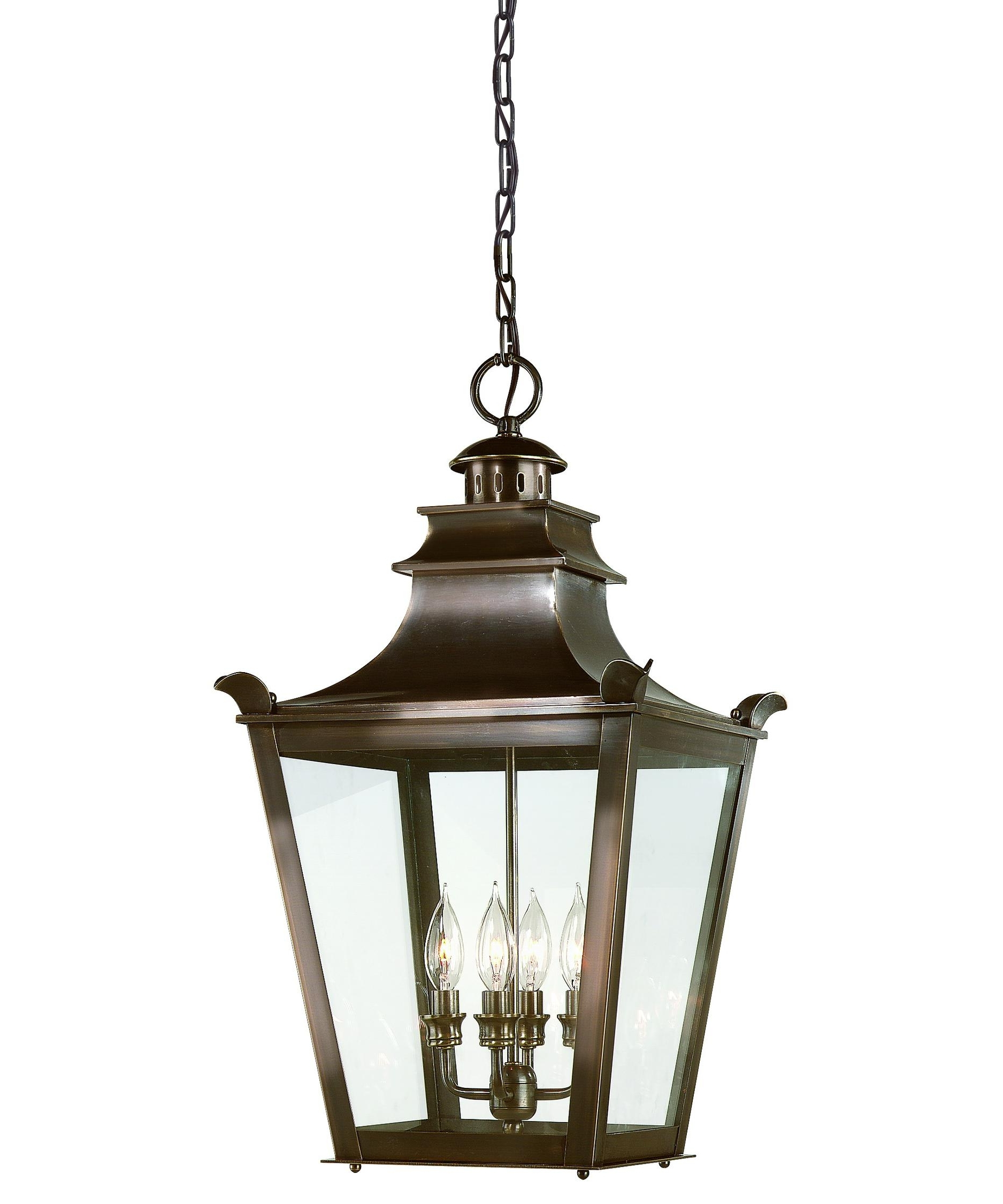 Outdoor Hanging Glass Lanterns Pertaining To Most Popular Troy Lighting F9499 Dorchester 14 Inch Wide 4 Light Outdoor Hanging (View 8 of 20)